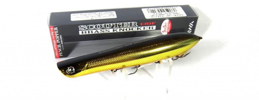 Sale Daiwa More Than Scouter Brass Knocker 130F Floating Lure 01 923064