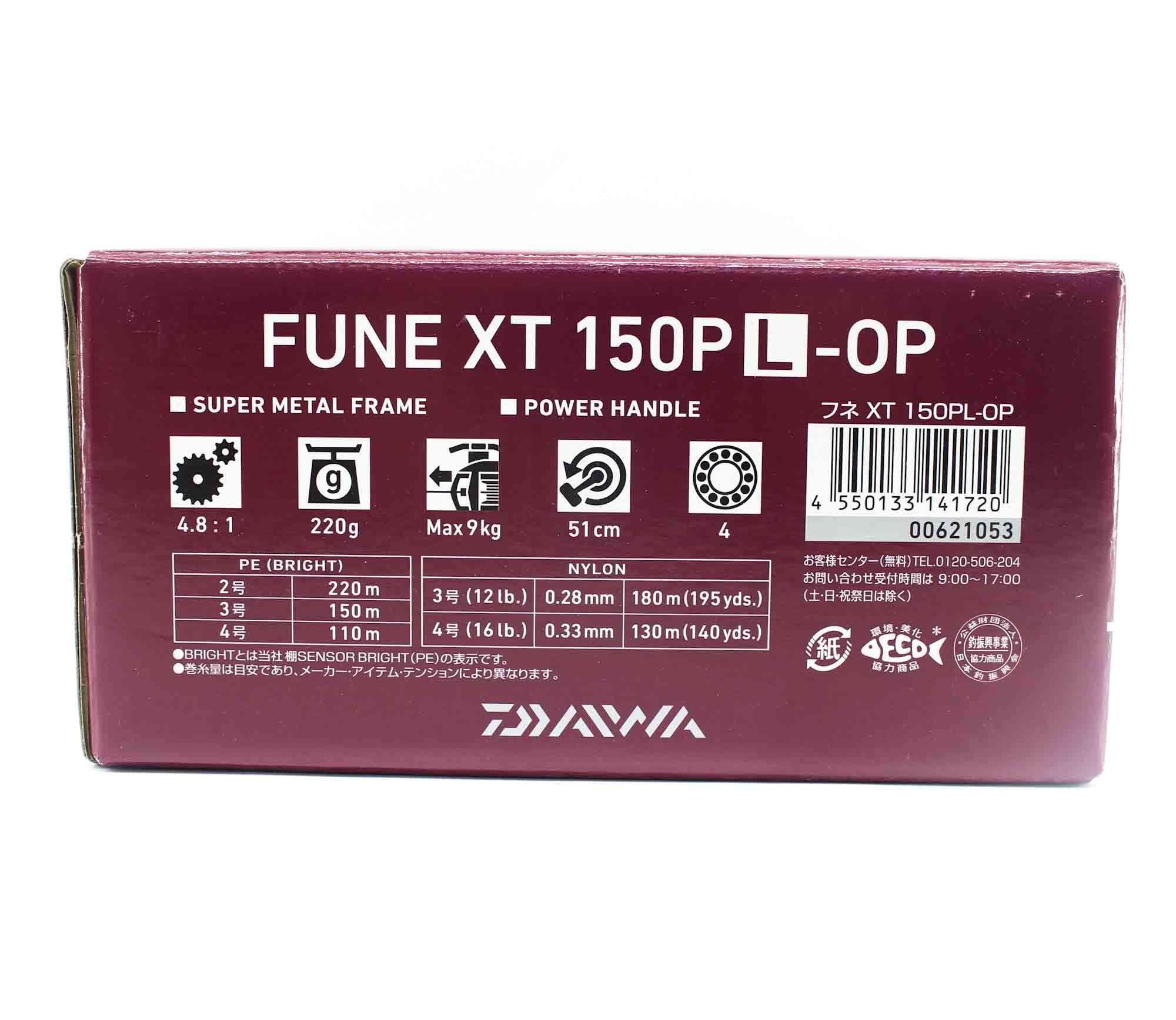 Daiwa Reel Baitcast 20 Fune XT 150PL-OP Left Hand (1720)