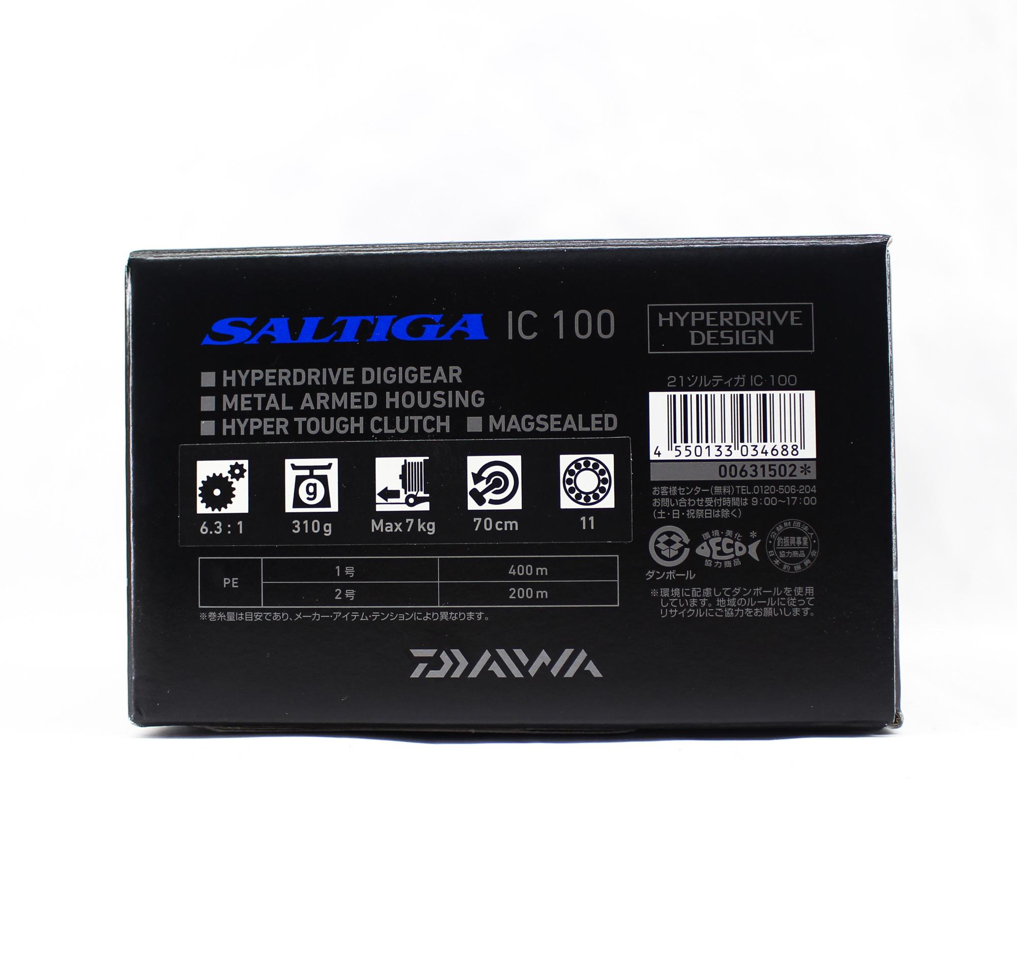 Daiwa Reel Baitcast 21 Saltiga IC 100 Right Hand (4688)