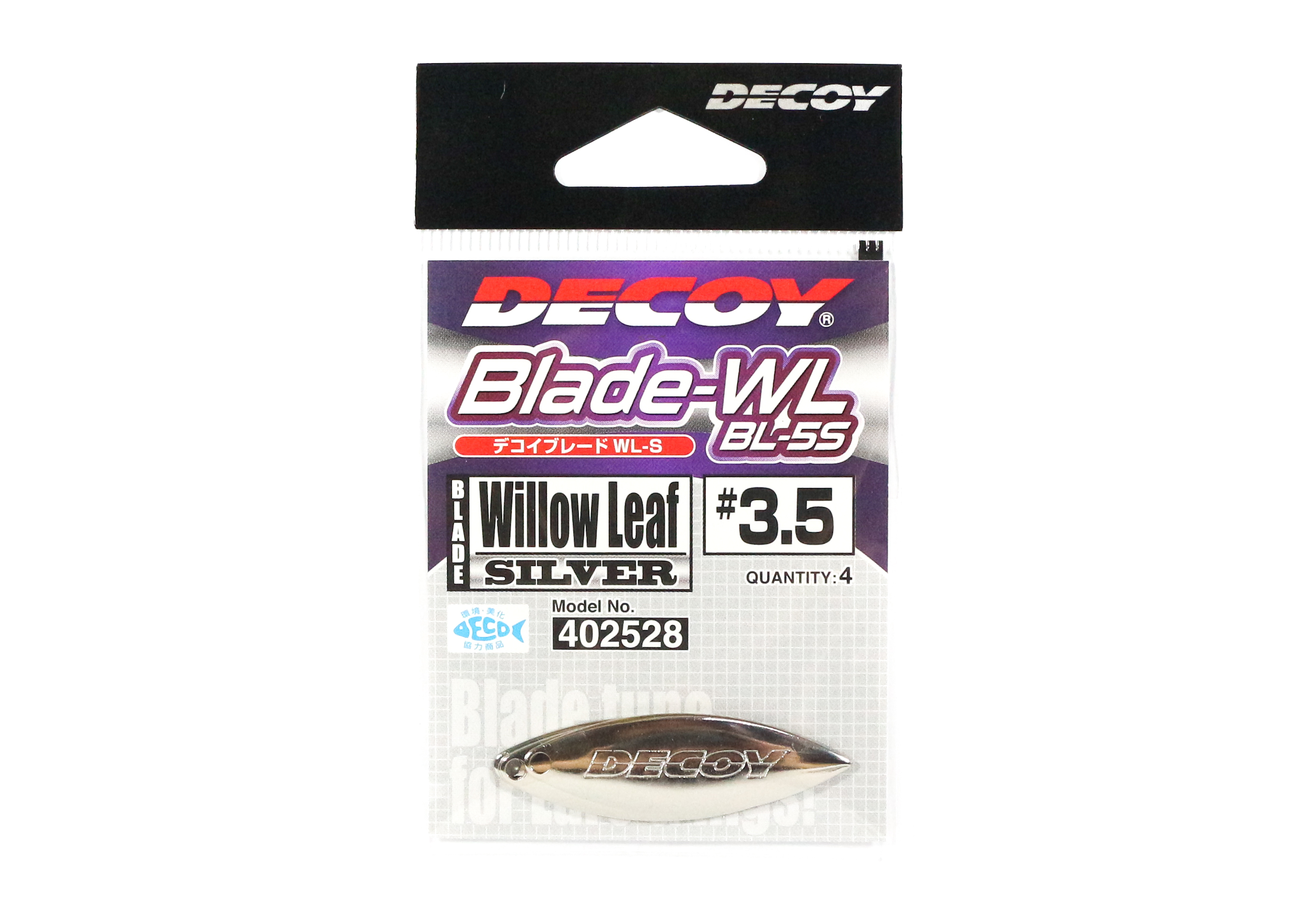 Decoy BL-5S Willow Blade Silver Size 3.5 x 4 pieces (2528)