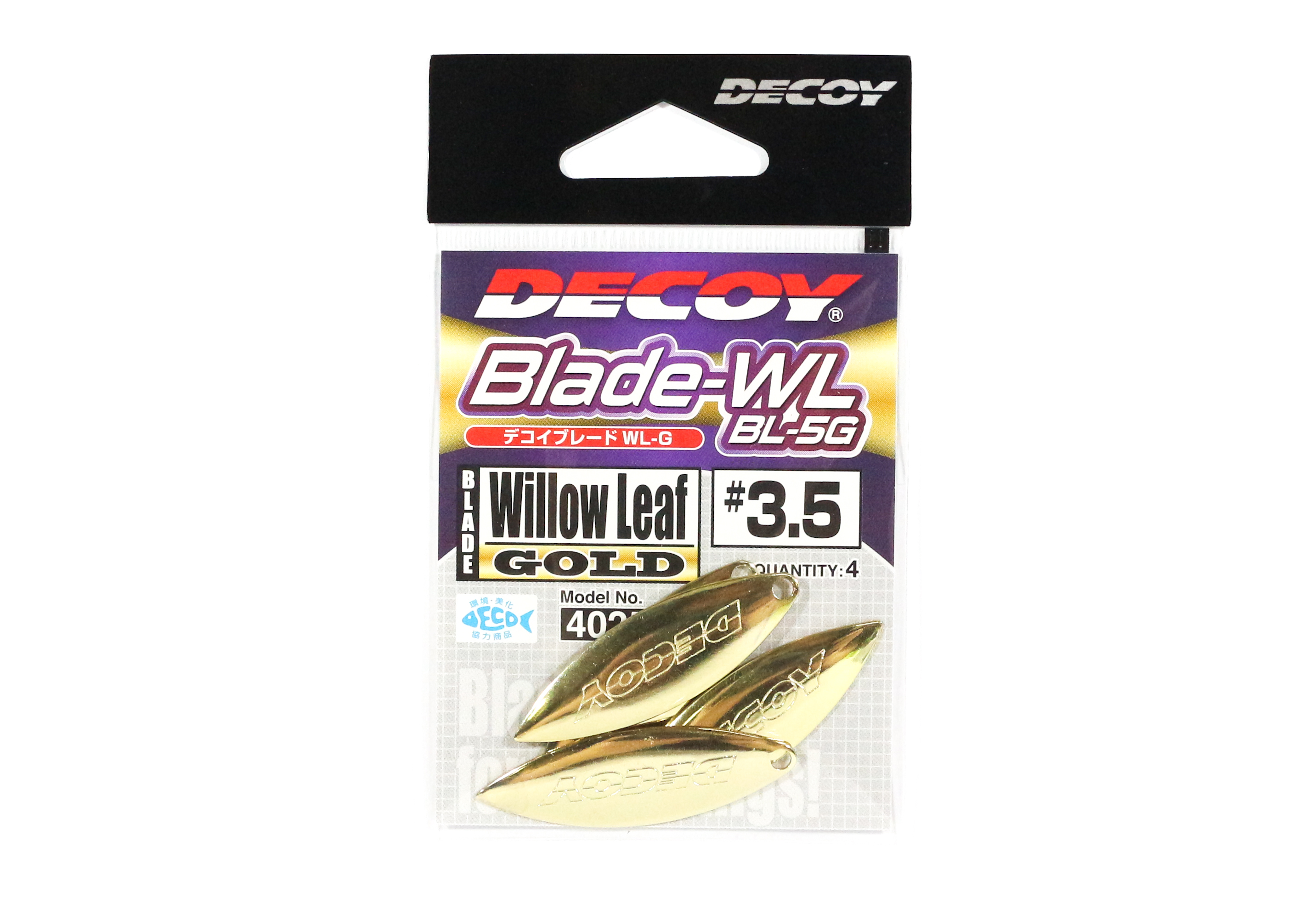 Decoy BL-5G Willow Blade Gold Size 3.5 x 4 pieces (2580)