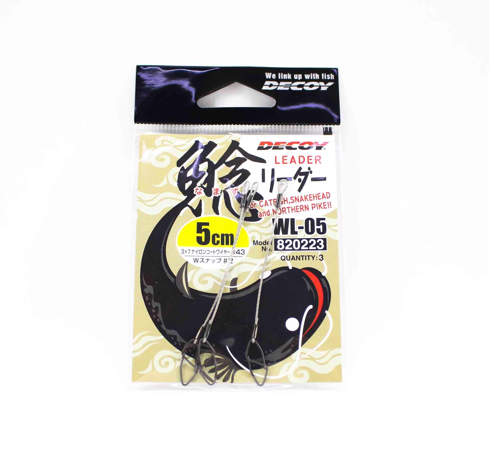 Decoy WL-05 Wire Leader 5cm #43 Snap Size 2 (0223)