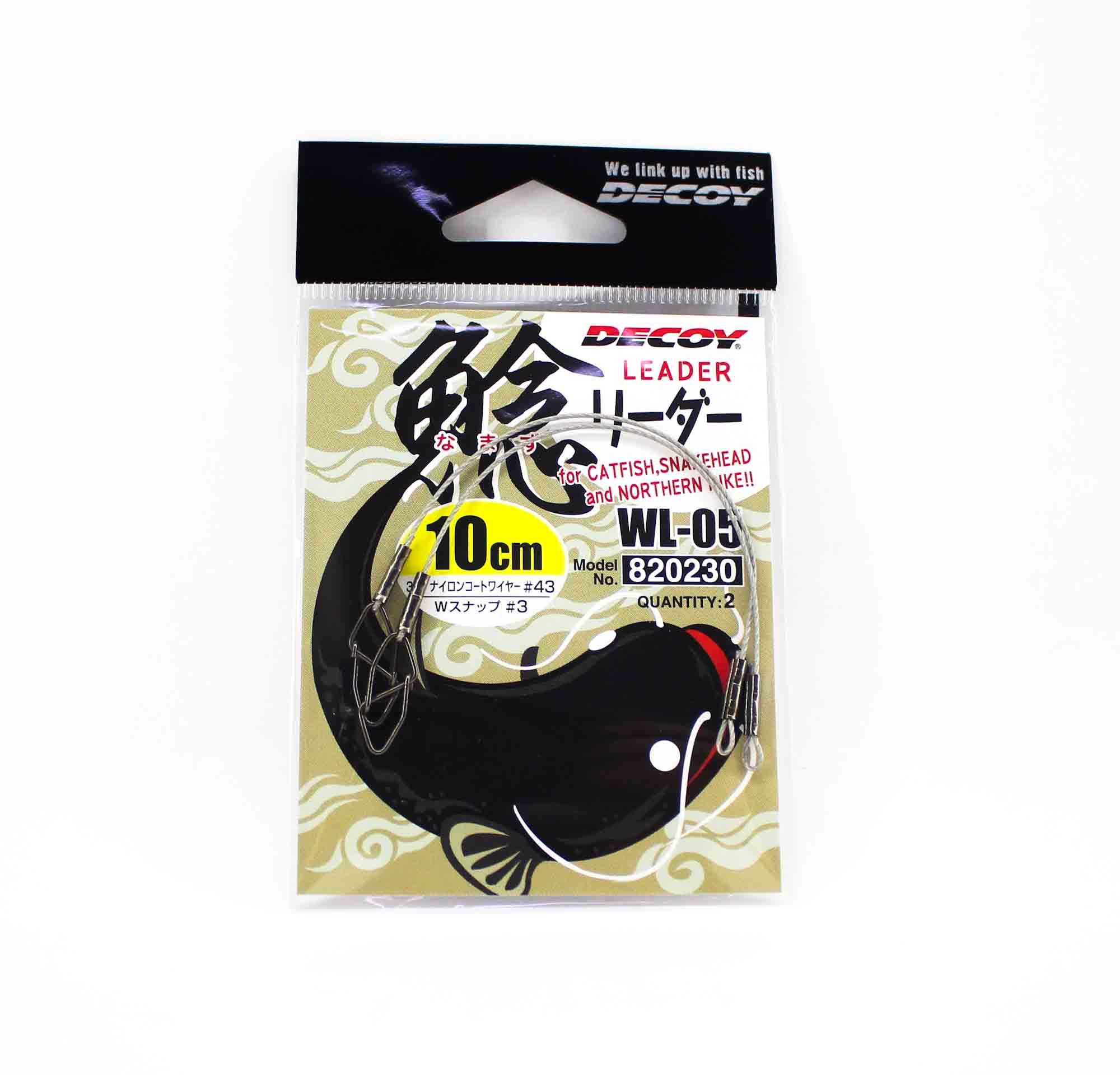 Decoy WL-05 Wire Leader 10cm #43 Snap Size 3 (0230)