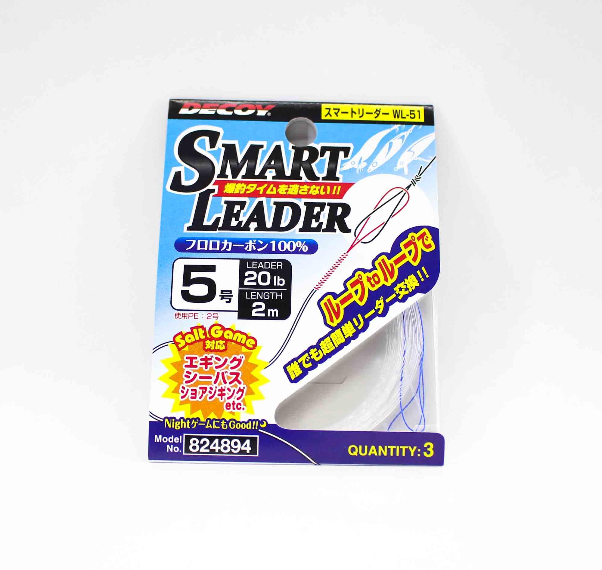 Decoy WL-51 Smart Leader Fluorocarbon 20lb 2m (4894)