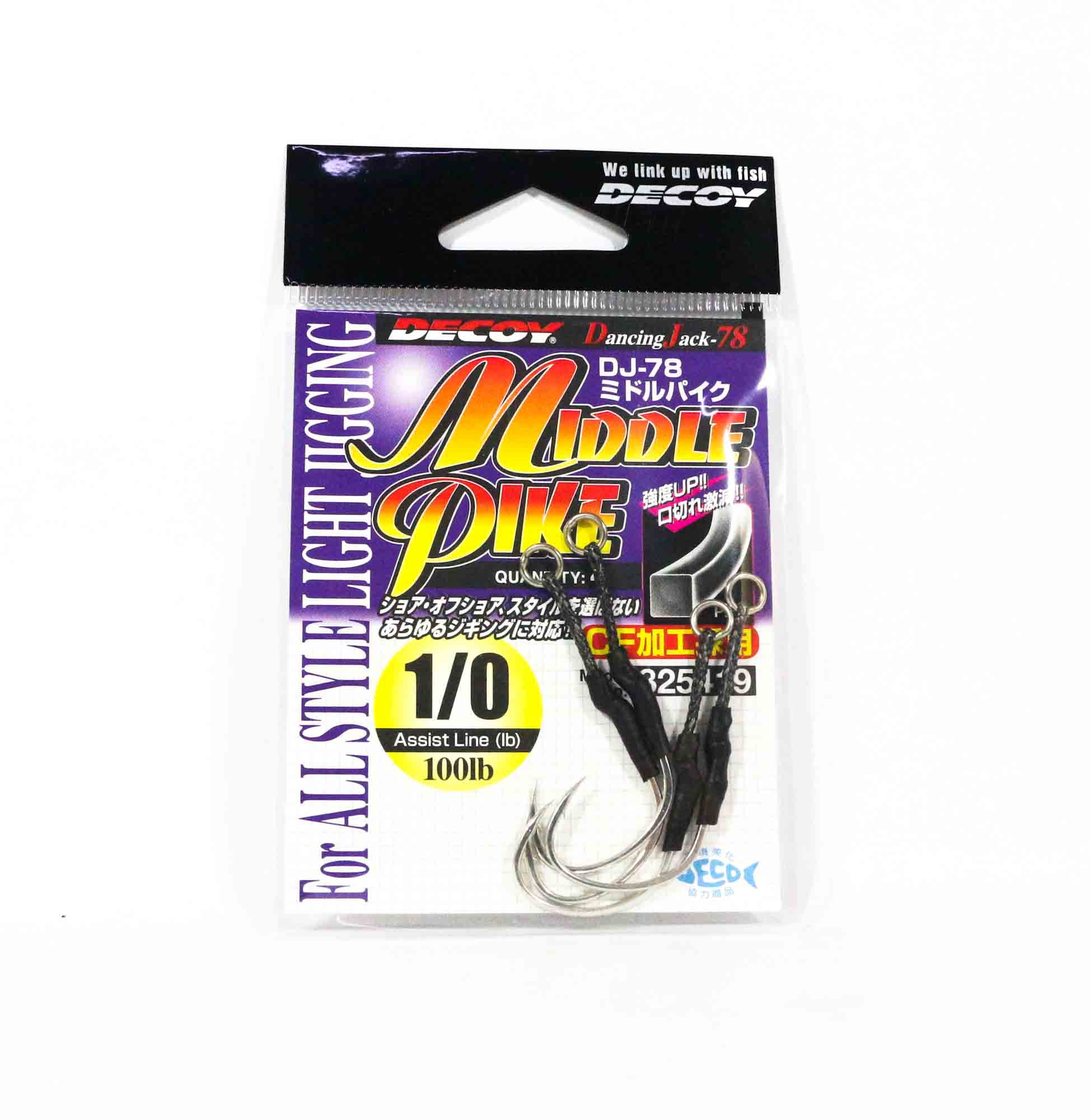 Decoy DJ-78 Middle Pike Assist Hooks Size 1/0 (5419)