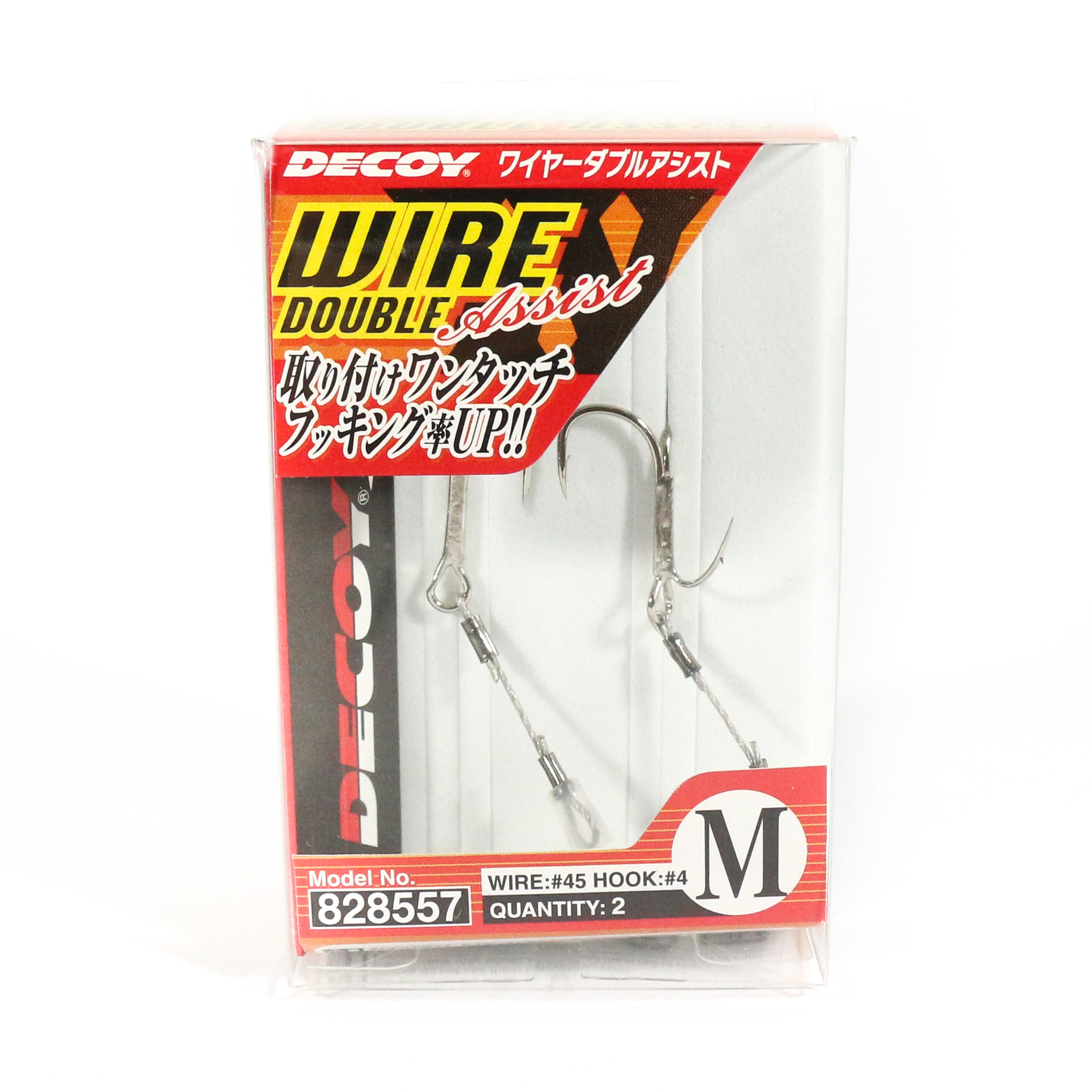 Decoy WA-51 Wire Double Assist for Soft Lure Size M (8557)