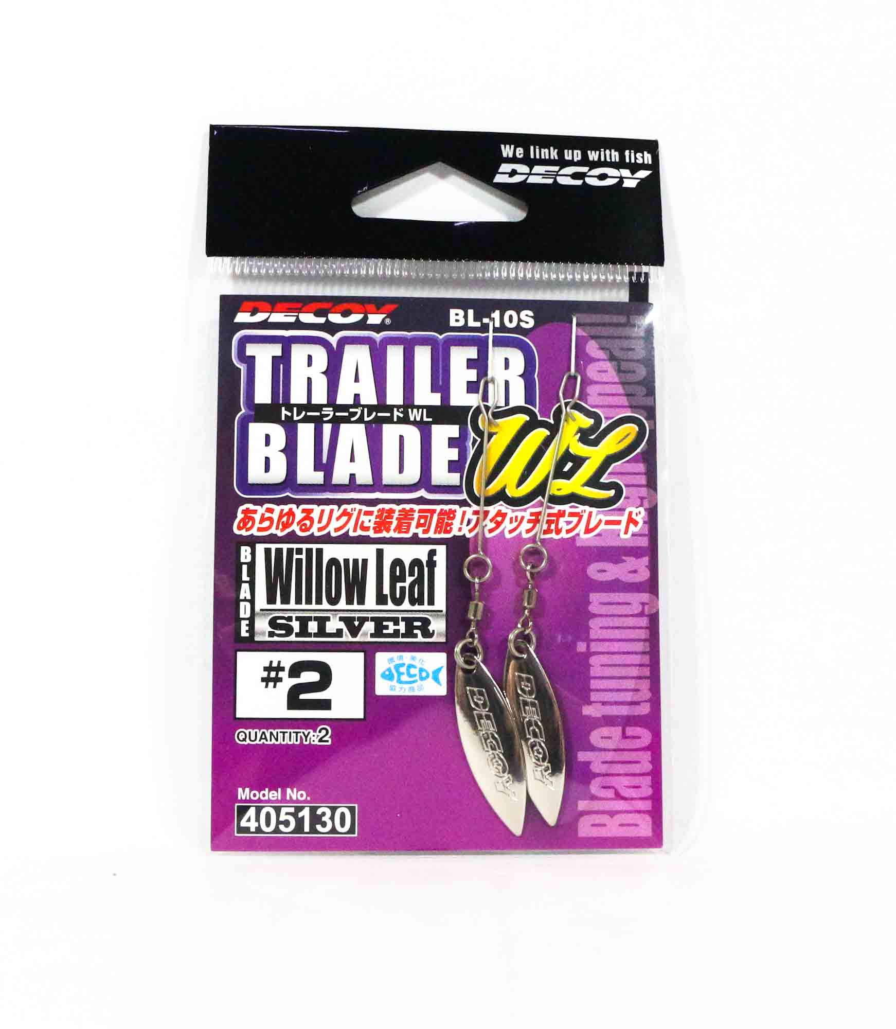 Decoy BL-10S Trailer Blade Willow Leaf Silver Size 2 (5130)