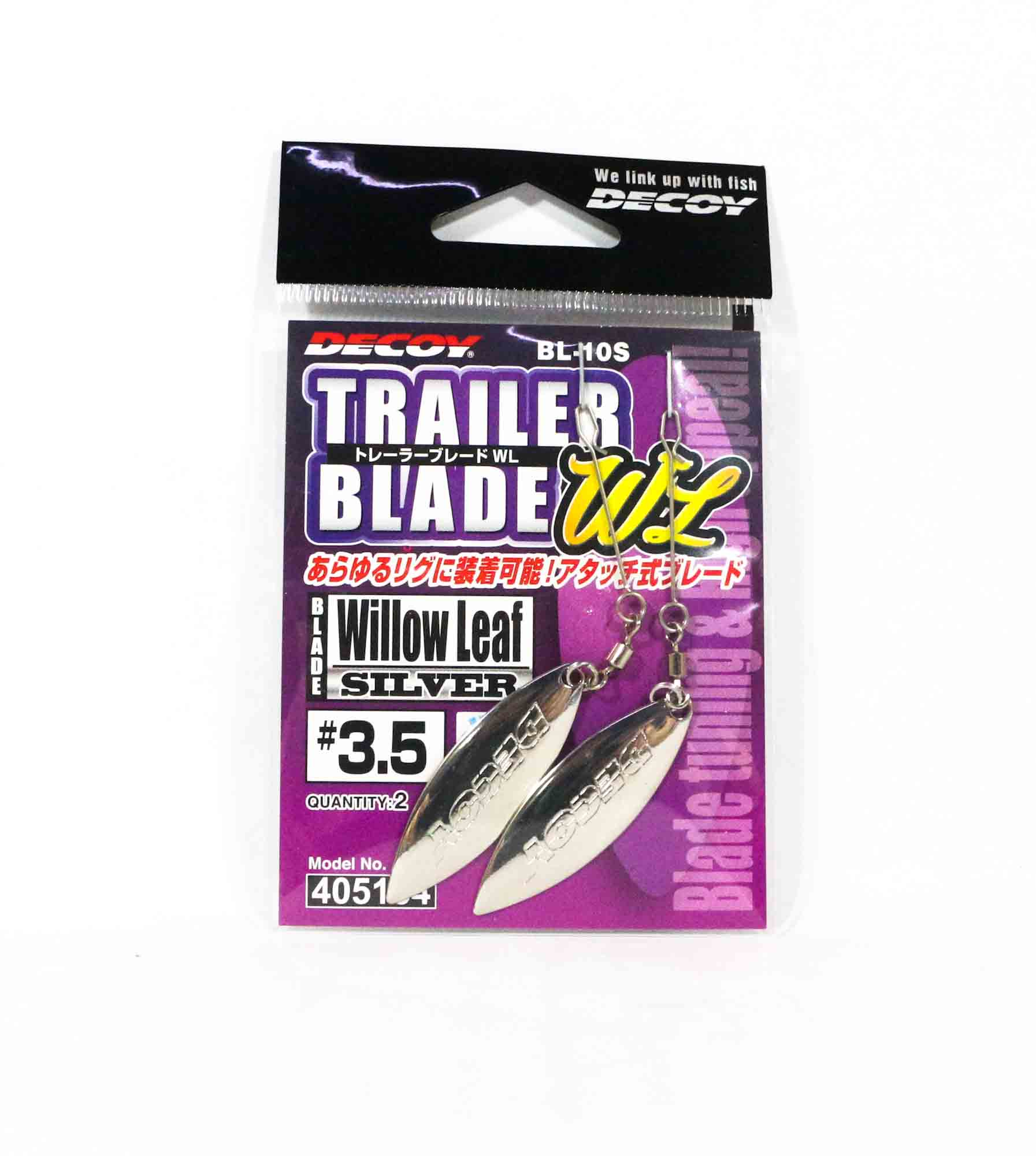 Decoy BL-10S Trailer Blade Willow Leaf Silver Size 3.5 (5154)