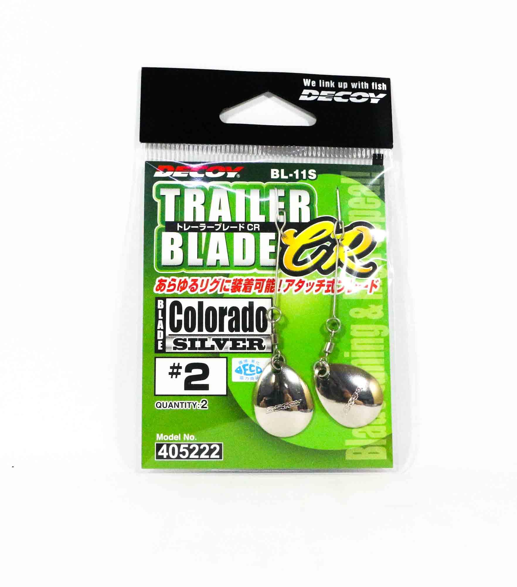 Decoy BL-11S Trailer Blade Colorado Silver Size 2 (5222)