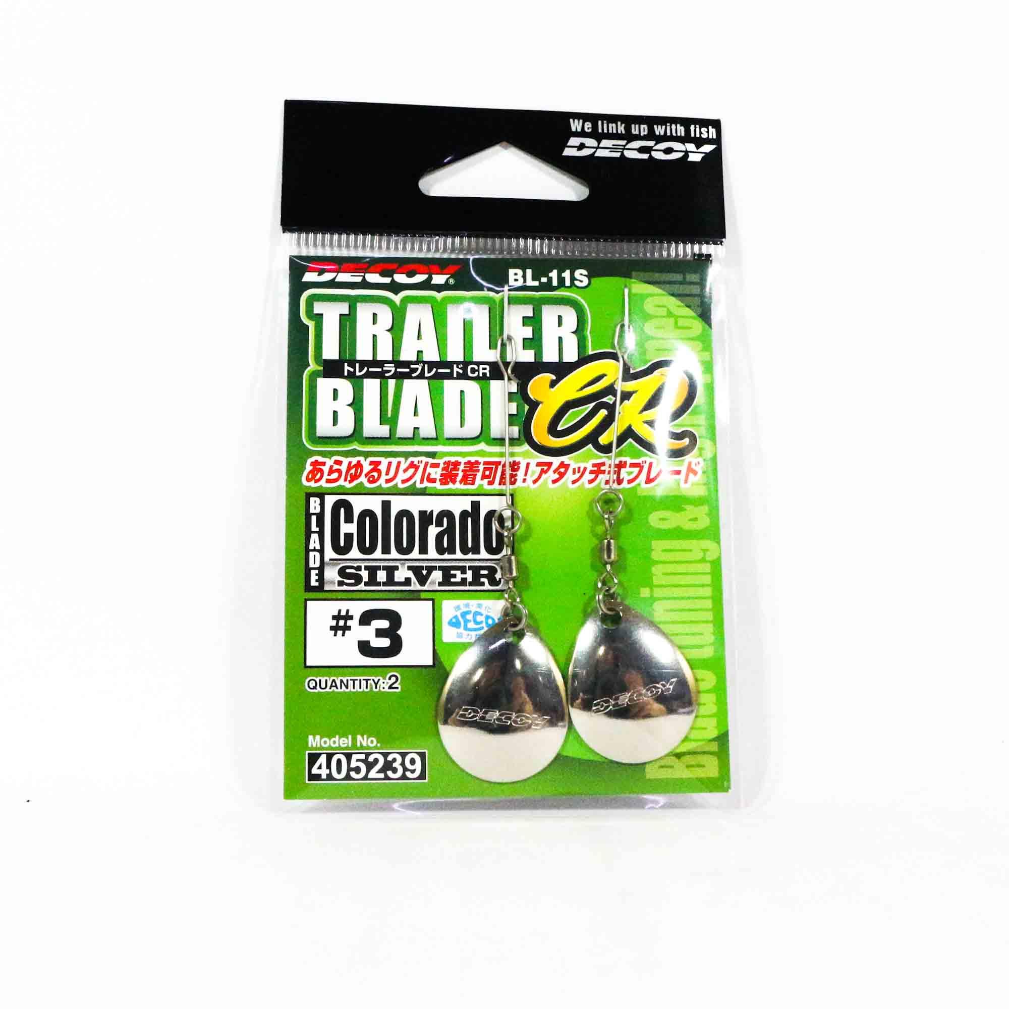 Decoy BL-11S Trailer Blade Colorado Silver Size 3 (5239)