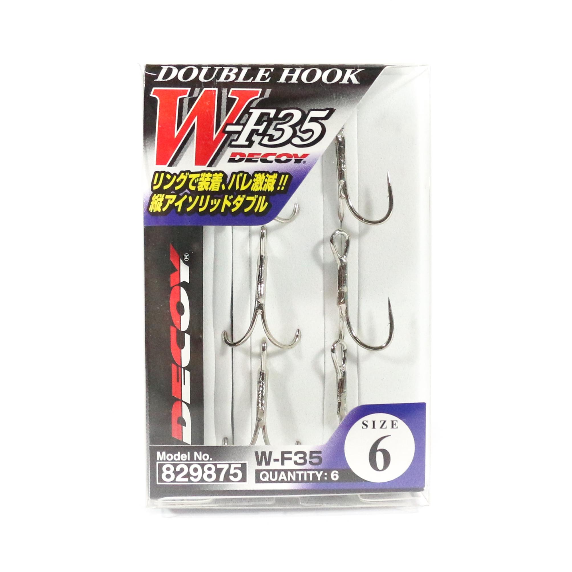 Decoy W-F35 Double Hooks Snagless Size 6 (9875)