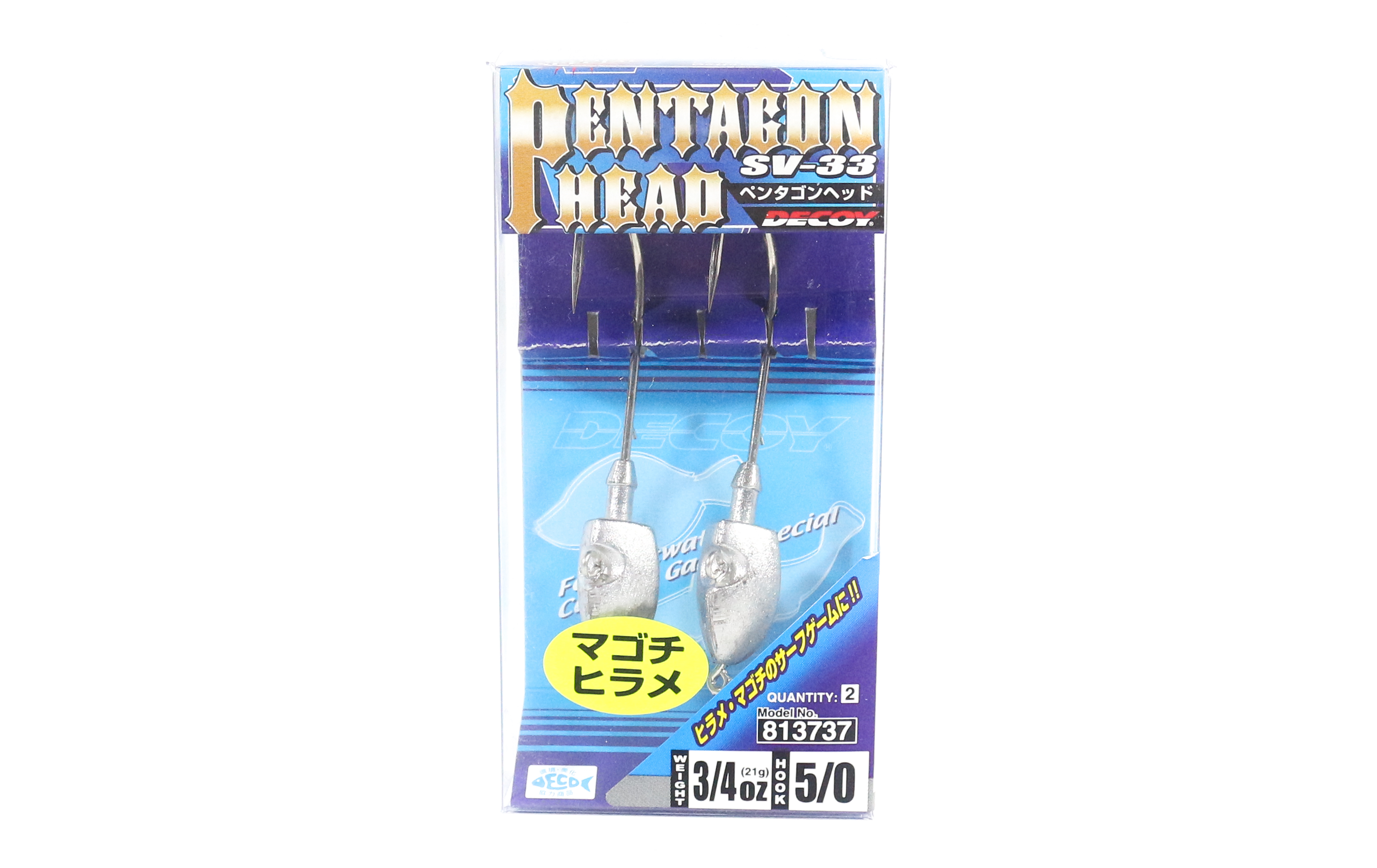 Decoy SV-33 Jig Head Pentagon Head Size 5/0 , 3/4 oz (3737)