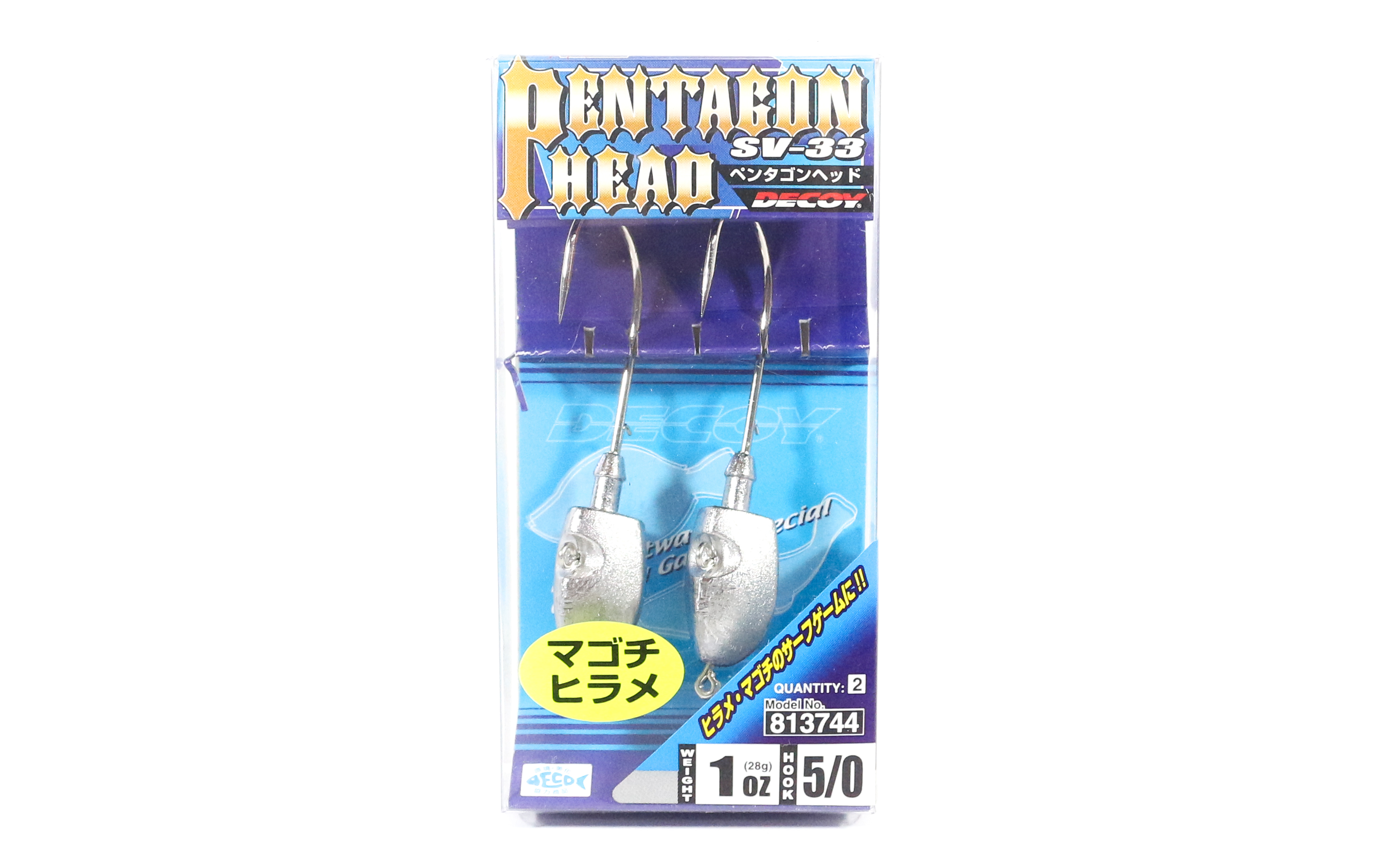 Decoy SV-33 Jig Head Pentagon Head Size 5/0 , 1 oz (3744)