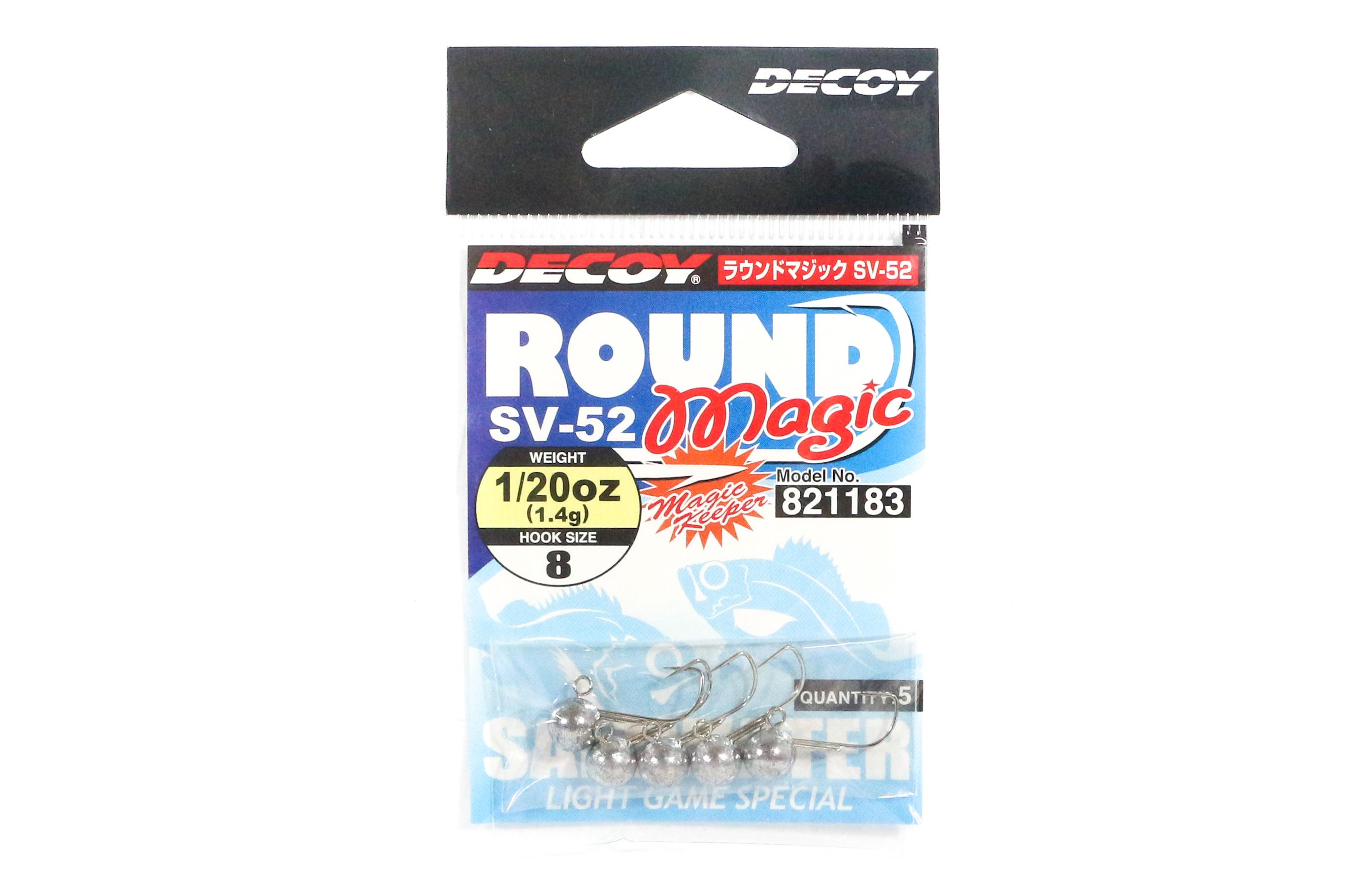Decoy SV-52 Jig Head Round Magic Size 8 , 1/20 oz (1183)