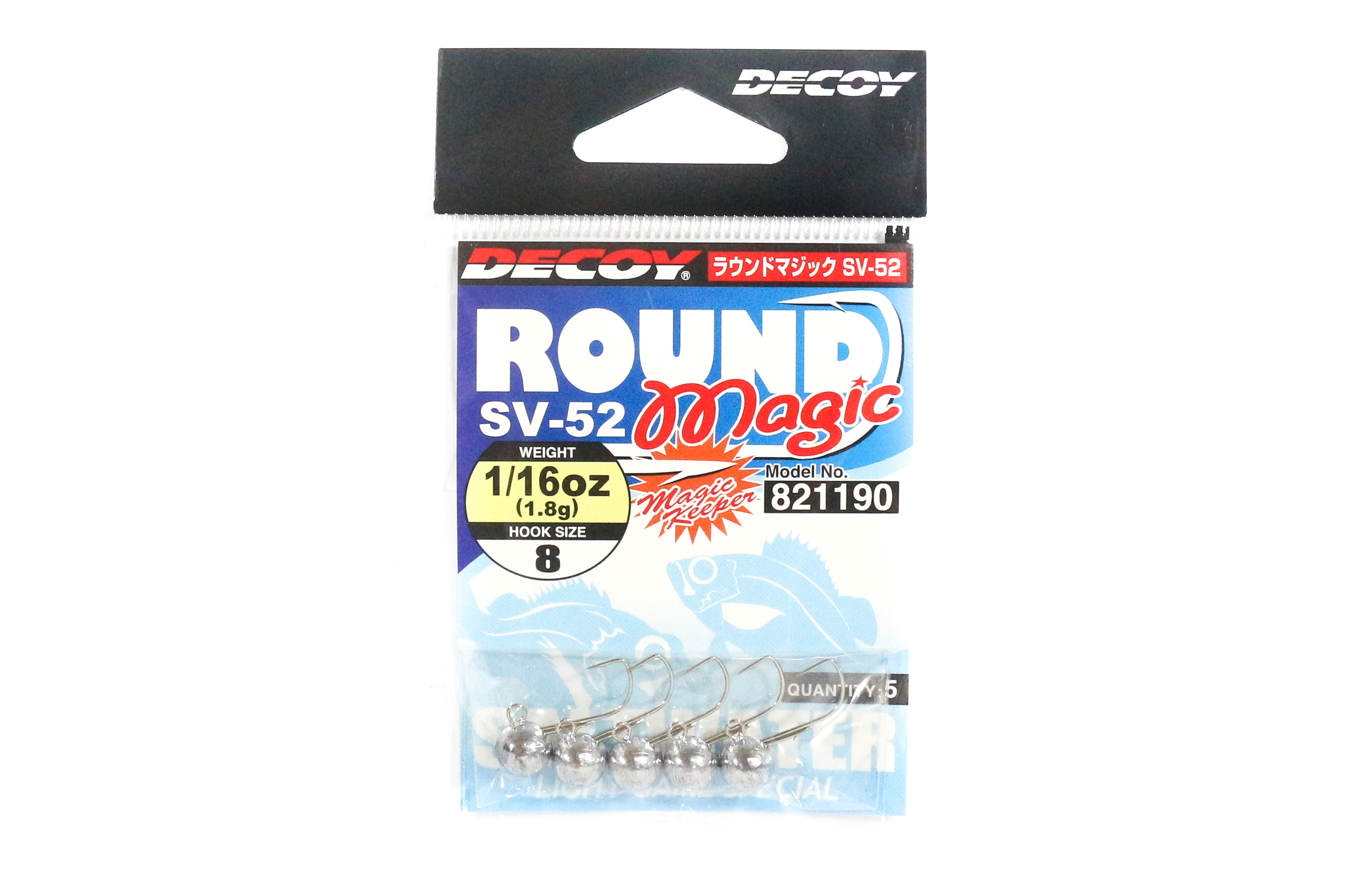 Decoy SV-52 Jig Head Round Magic Size 8 , 1/16 oz (1190)