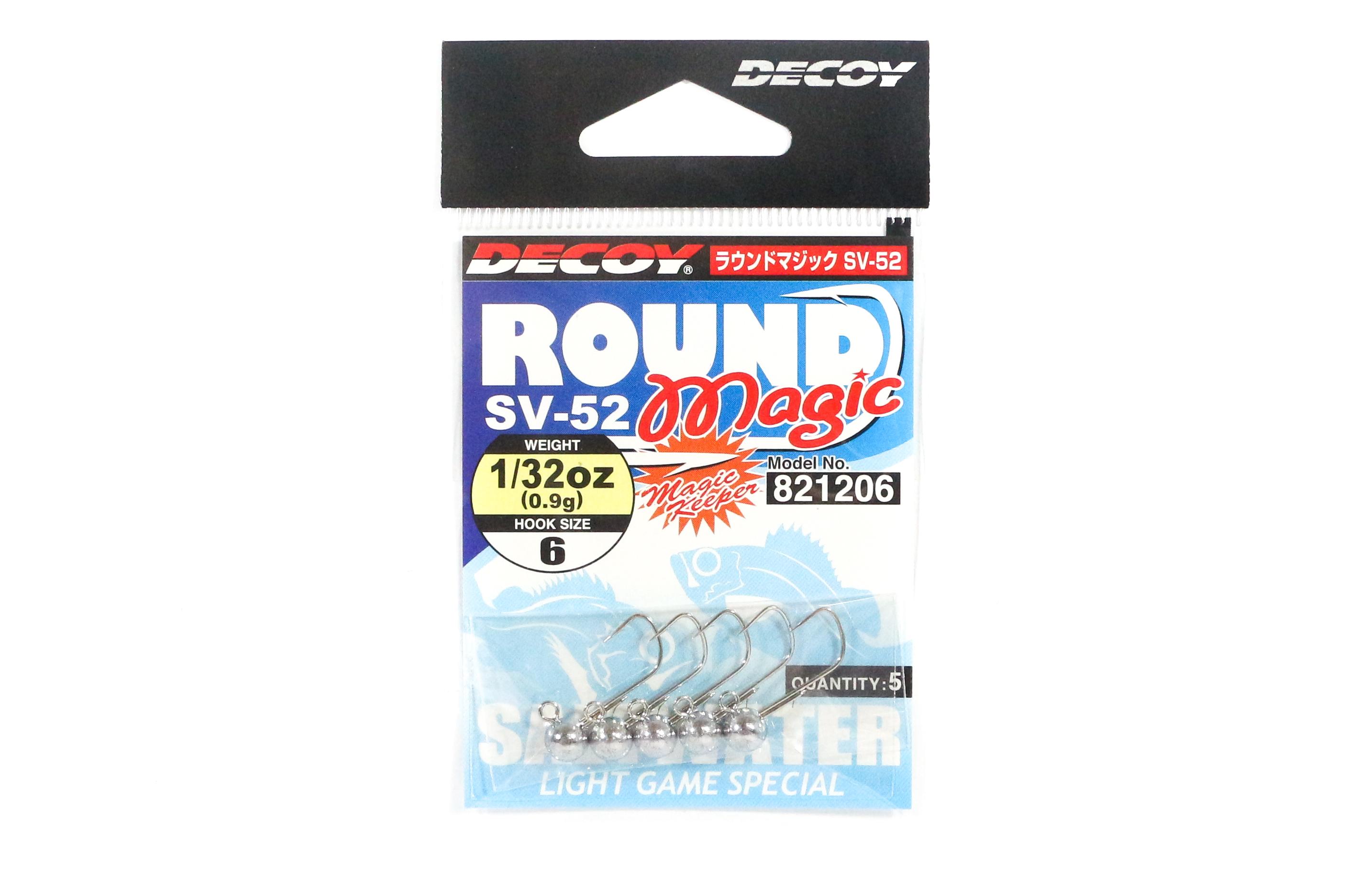Decoy SV-52 Jig Head Round Magic Size 6 , 1/32 oz (1206)