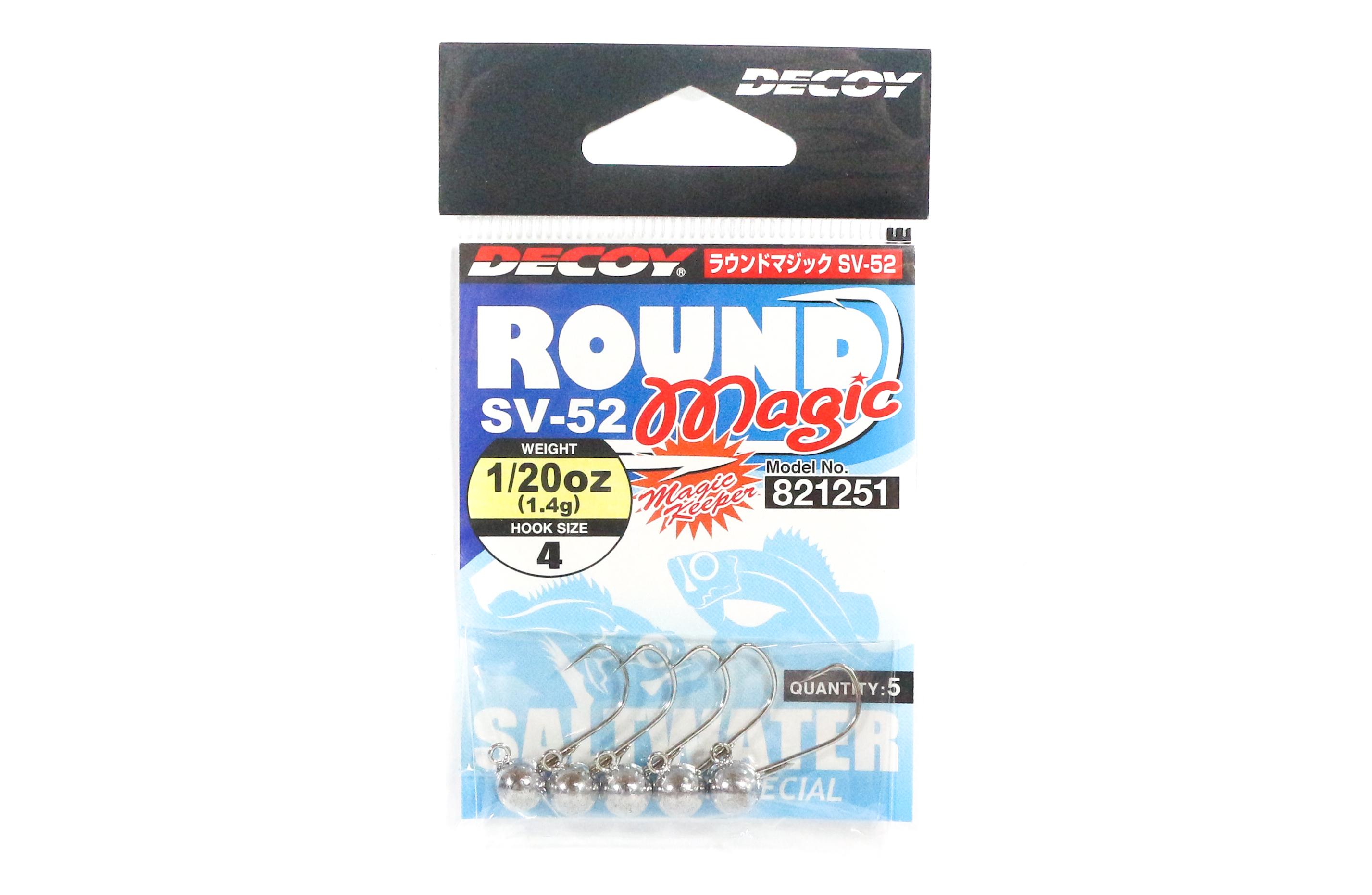 Decoy SV-52 Jig Head Round Magic Size 4 , 1/20 oz (1251)