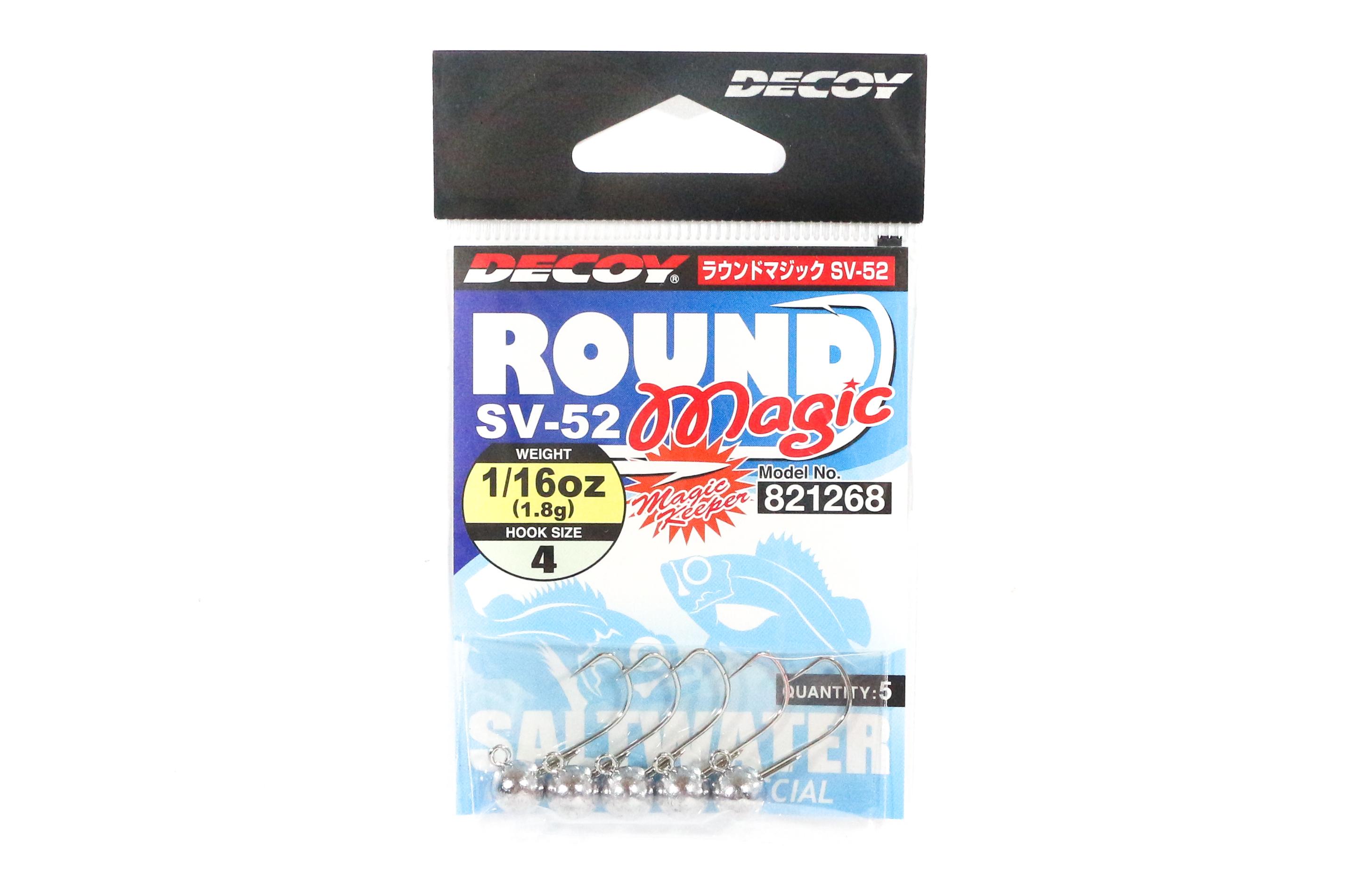 Decoy SV-52 Jig Head Round Magic Size 4 , 1/16 oz (1268)