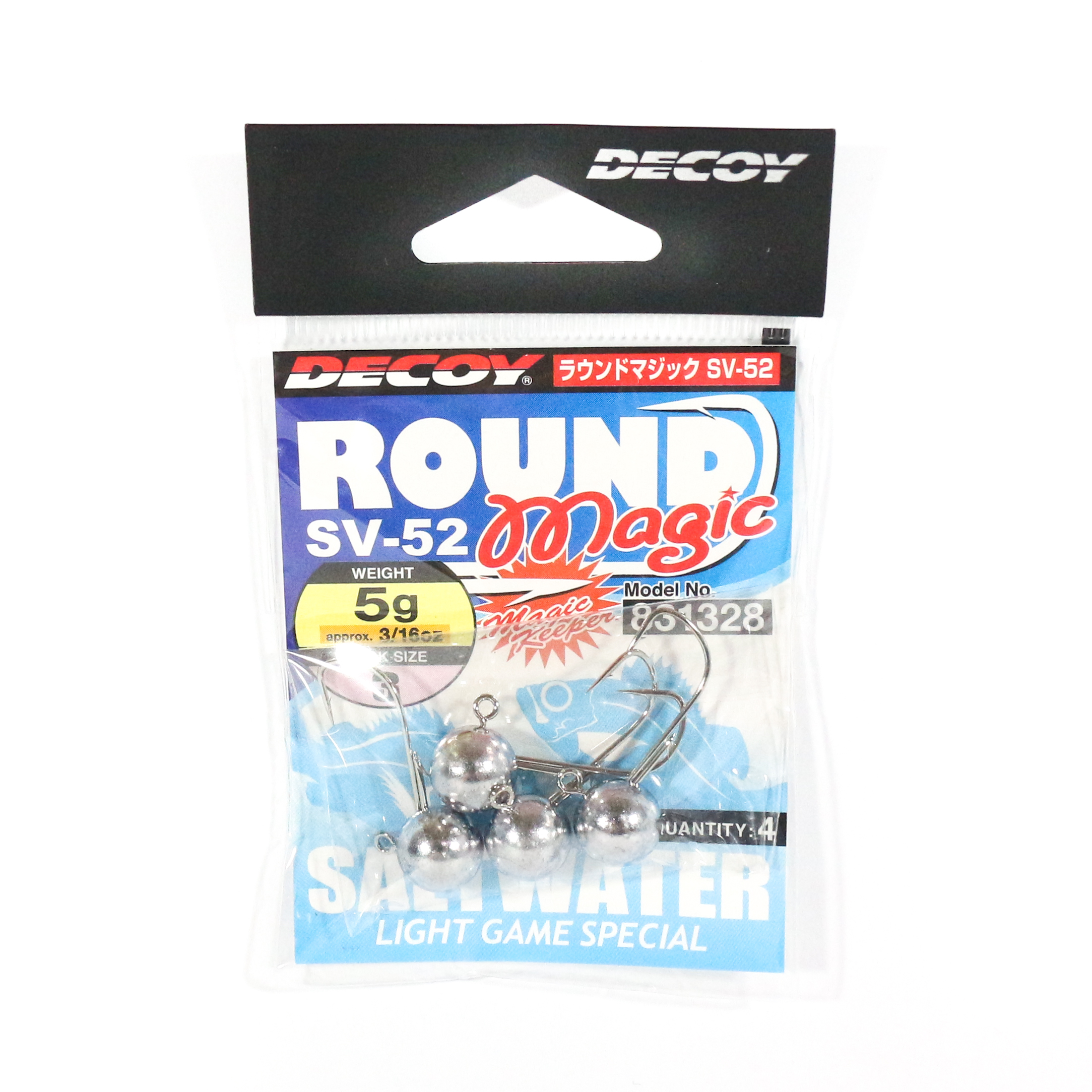 Decoy SV-52 Jig Head Round Magic Size 3 , 3/16 oz (1328)