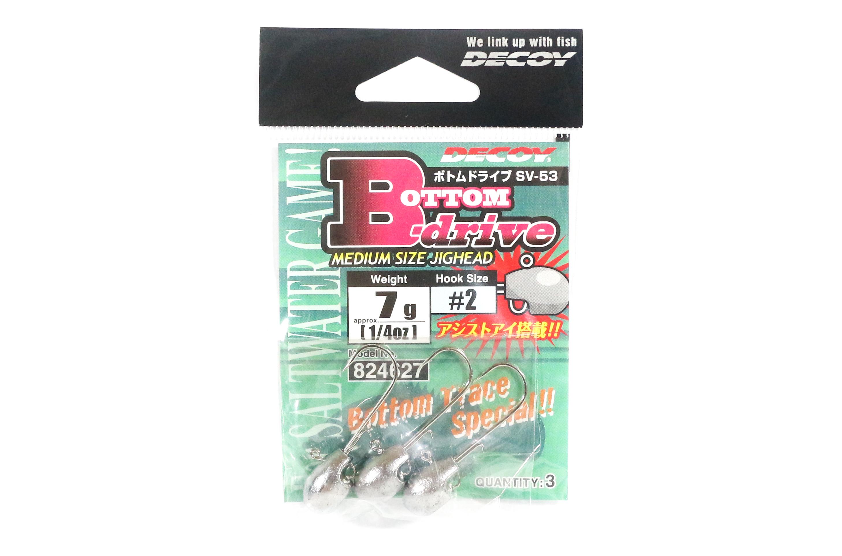 Decoy SV-53 Jig Head Bottom Drive Size 2 , 7 grams (4627)