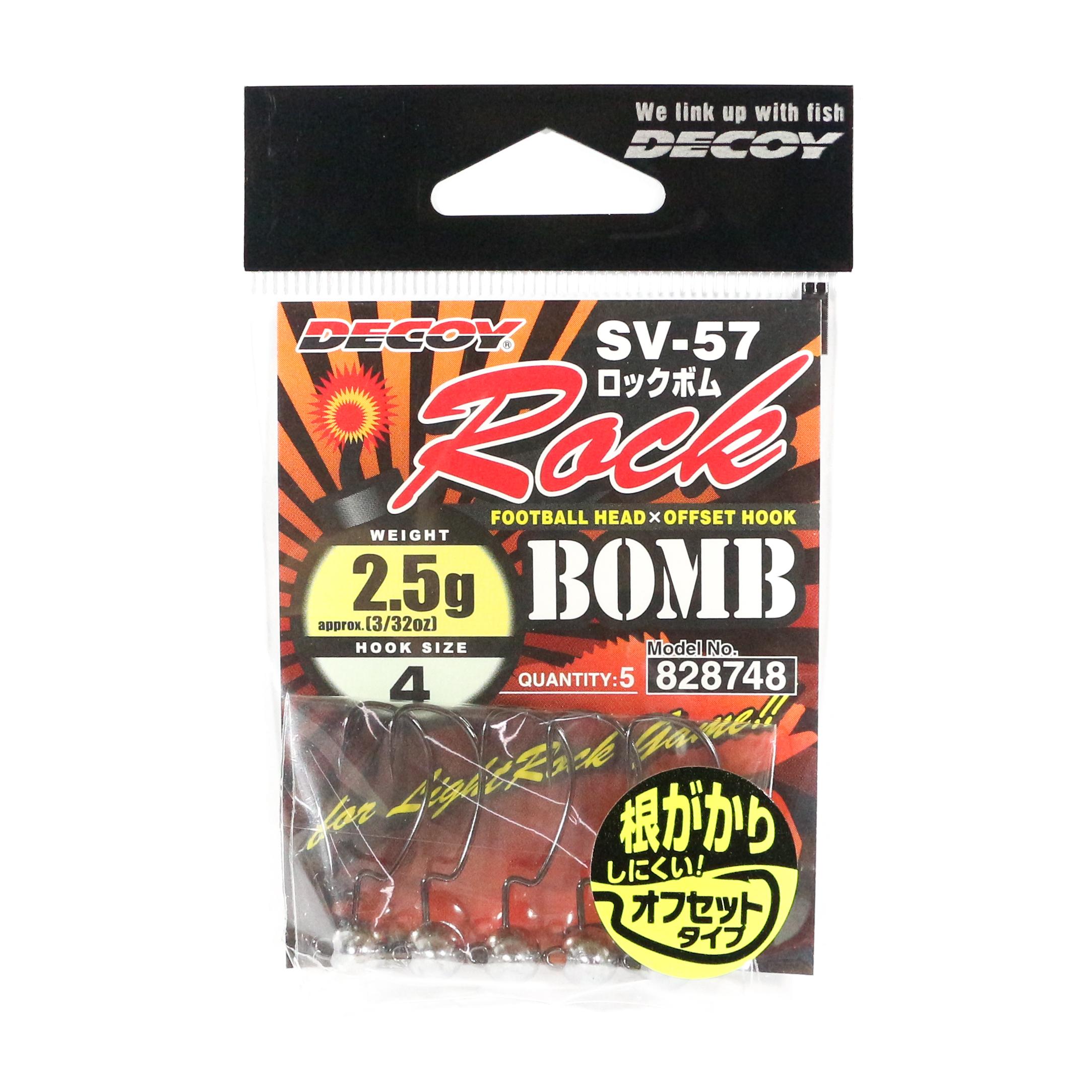 Decoy SV-57 Jig Head Rock Bomb Size 4 , 3/32 oz (8748)
