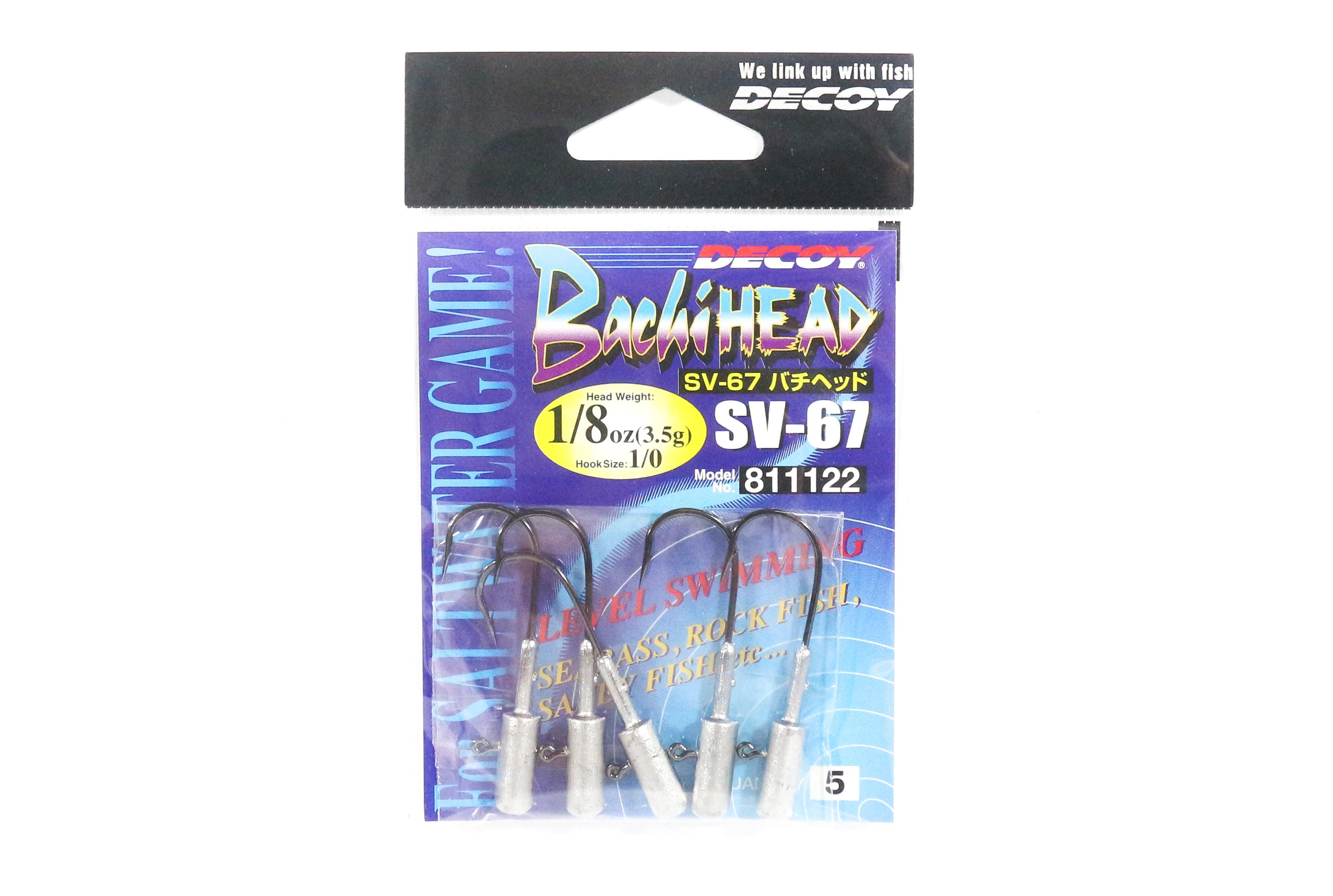 Decoy SV-67 Jig Head Bachi Head Heavy Duty Hook Size 1 3//32 oz 1115