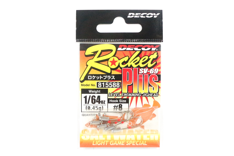 Decoy SV-69 Jig Head Rocket Plus Hook Size 8 , 1/64 oz (5588)