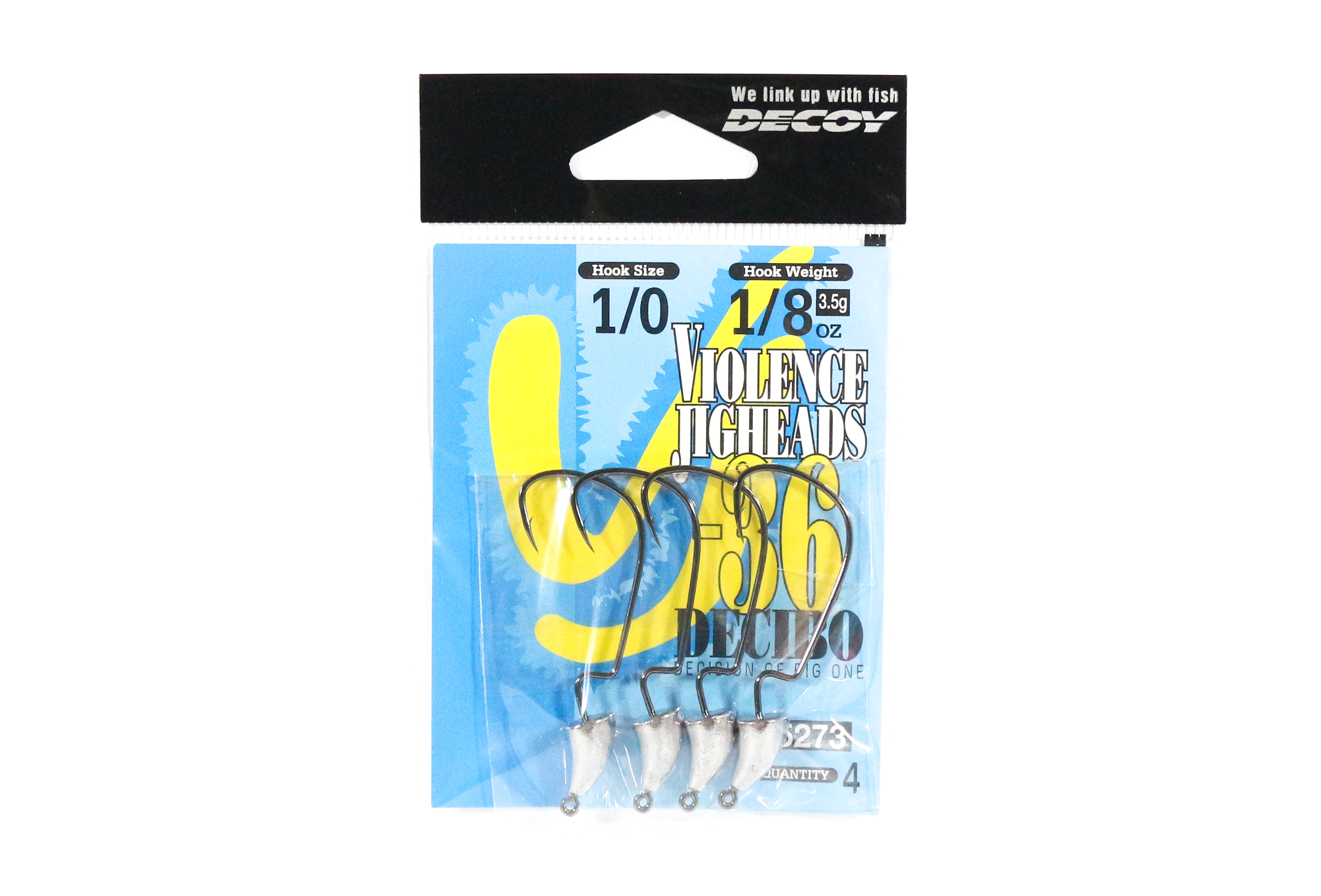 Decoy VJ-36 Jig Head Decibo Worm Hook Jig Head Size 1/0 , 1/8 oz (5273)