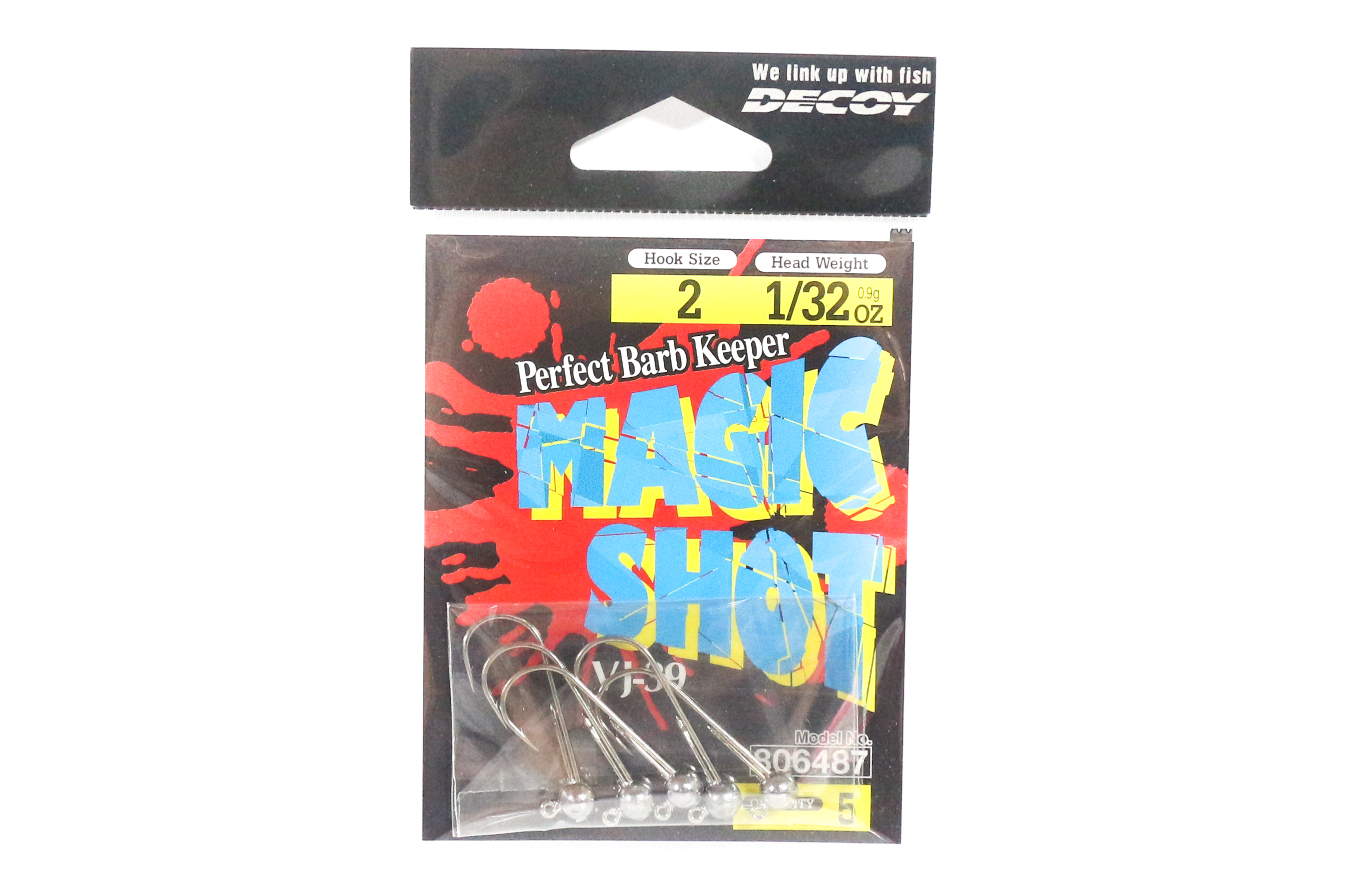 Decoy VJ-39 Magic Shot Jig Head Size 2 , 1/32 oz (6487)