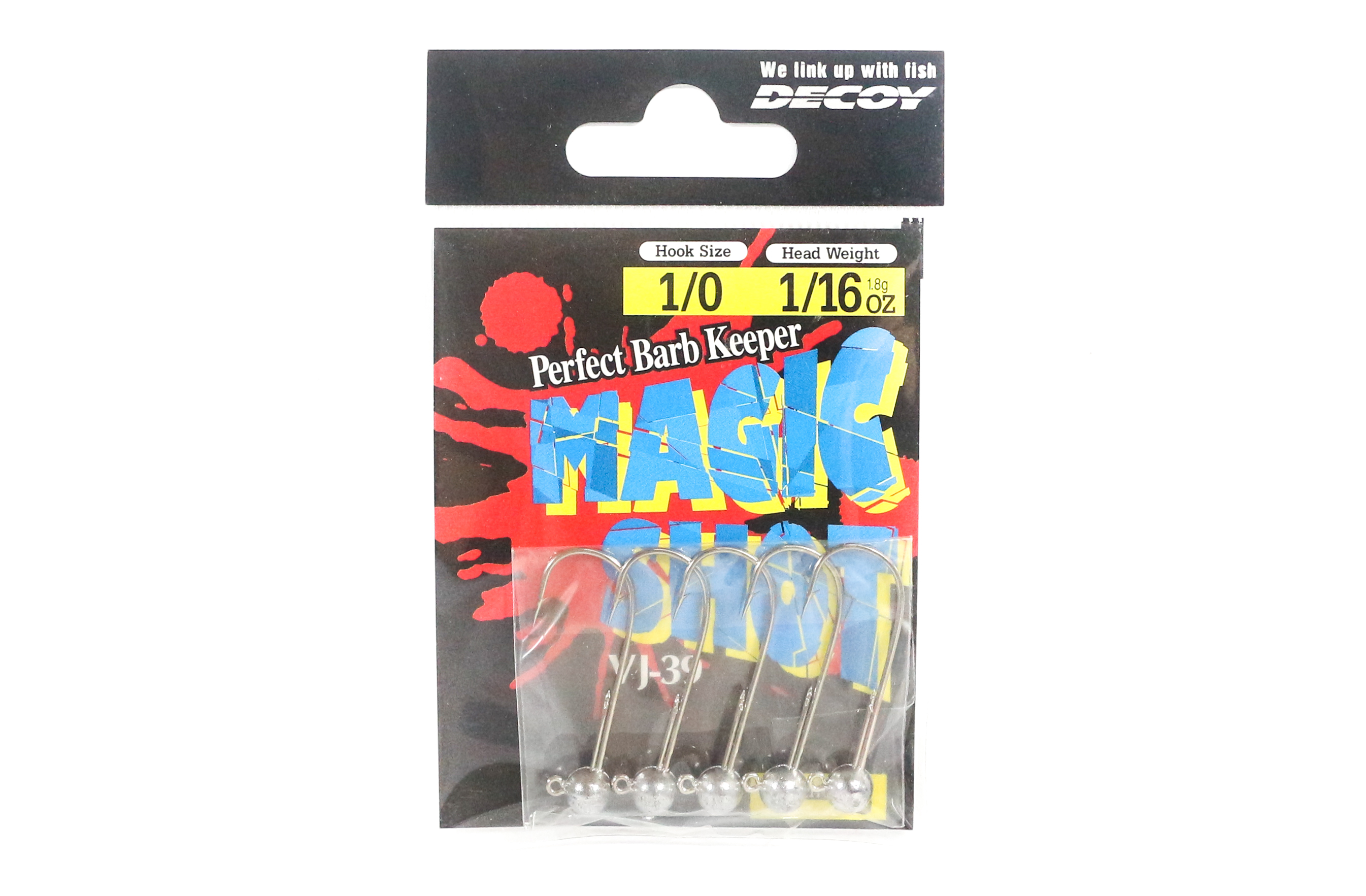 Decoy VJ-39 Magic Shot Jig Head Size 1/0 , 1/16 oz (6531)