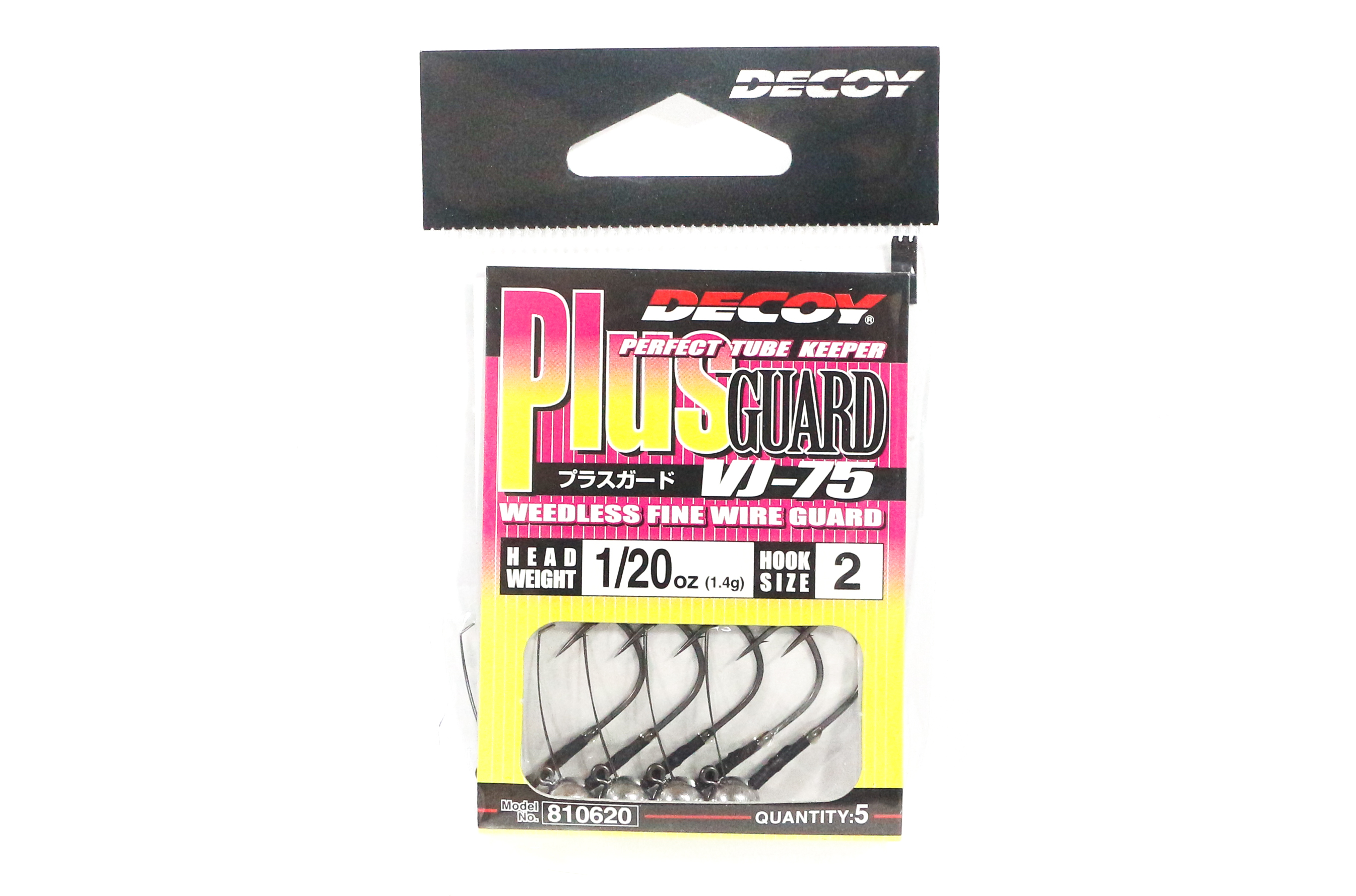 Decoy VJ-75 Jig Head Plus Guard Weedless Special Hook Size 2 , 1/20 oz (0620)