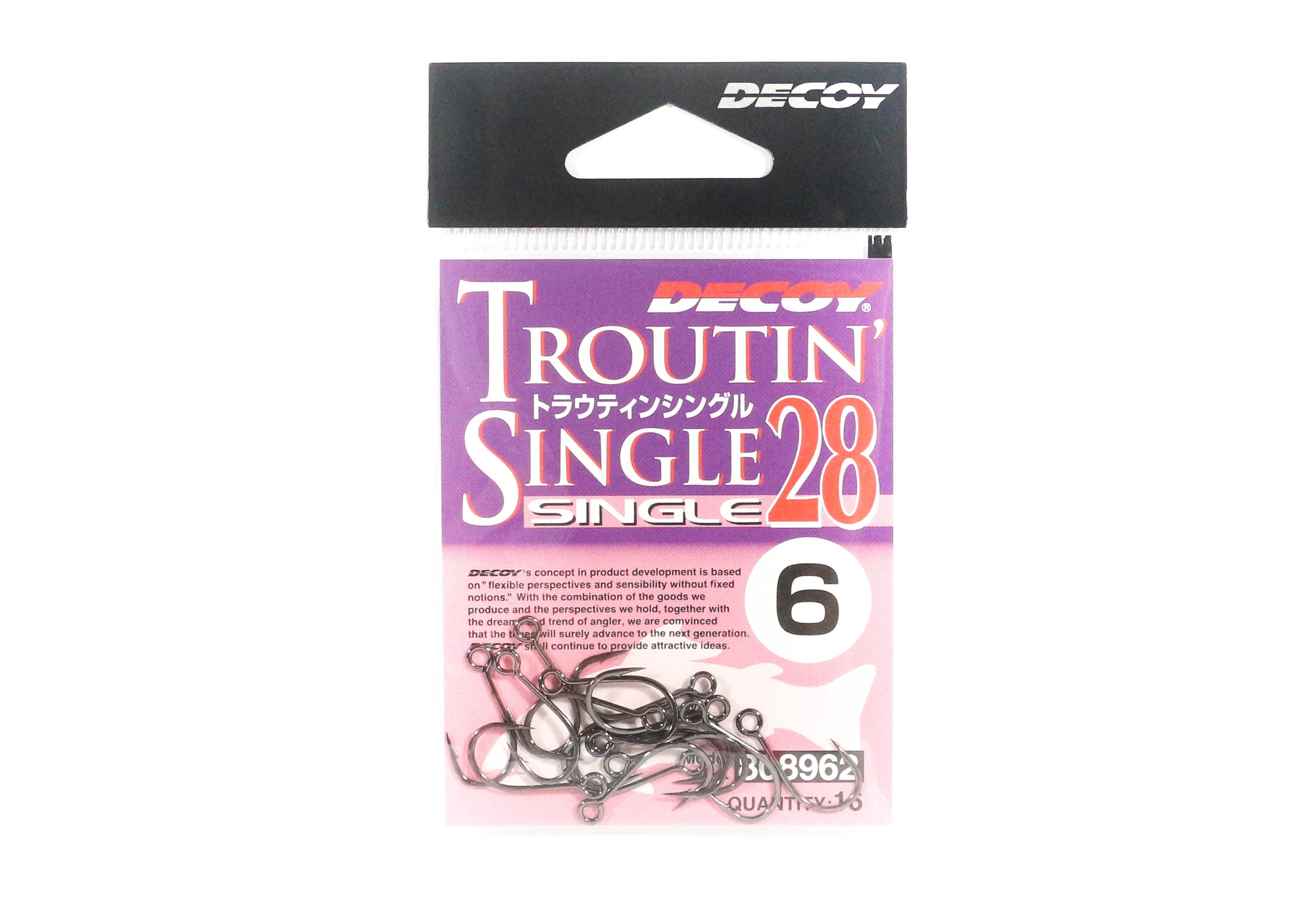 Decoy Single 28 Troutin Plugging Lure Hook Size 6 (8962)