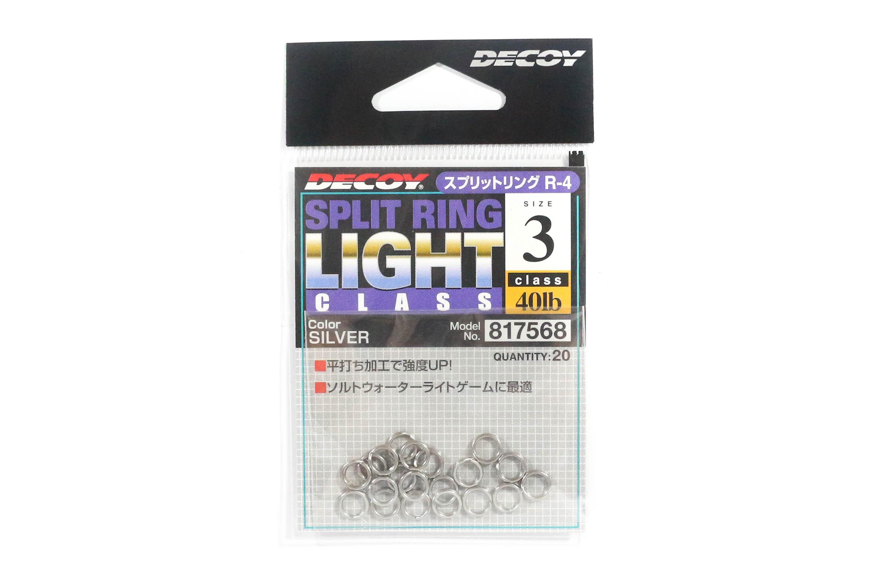 Decoy R-4 Split Rings Light Class Silver Size 3 (7568)