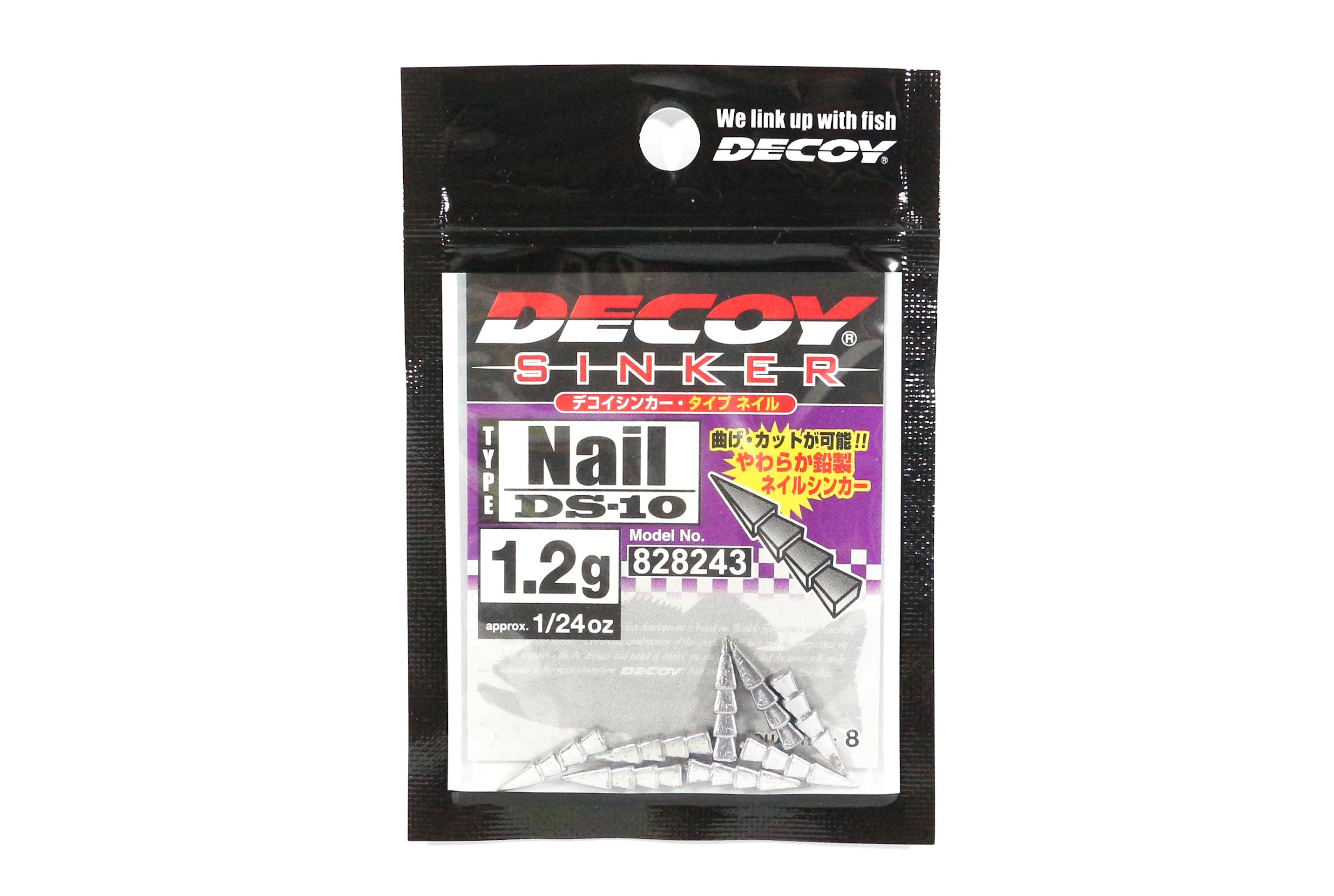 Decoy DS-10 Sinker Type Nail Size 1.2 grams (8243)