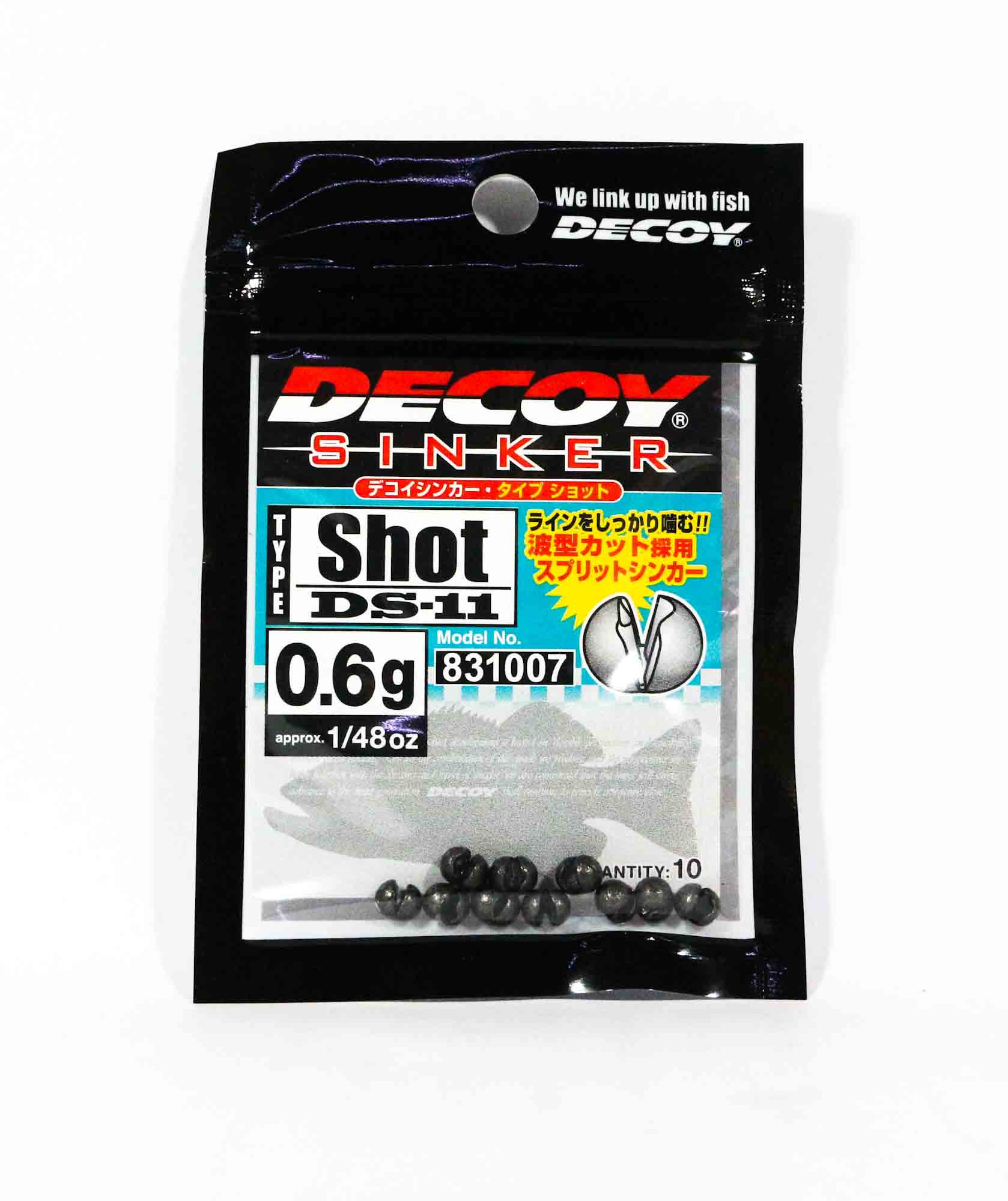 Decoy DS-11 Sinker Shot Size 0.6 grams (1007)