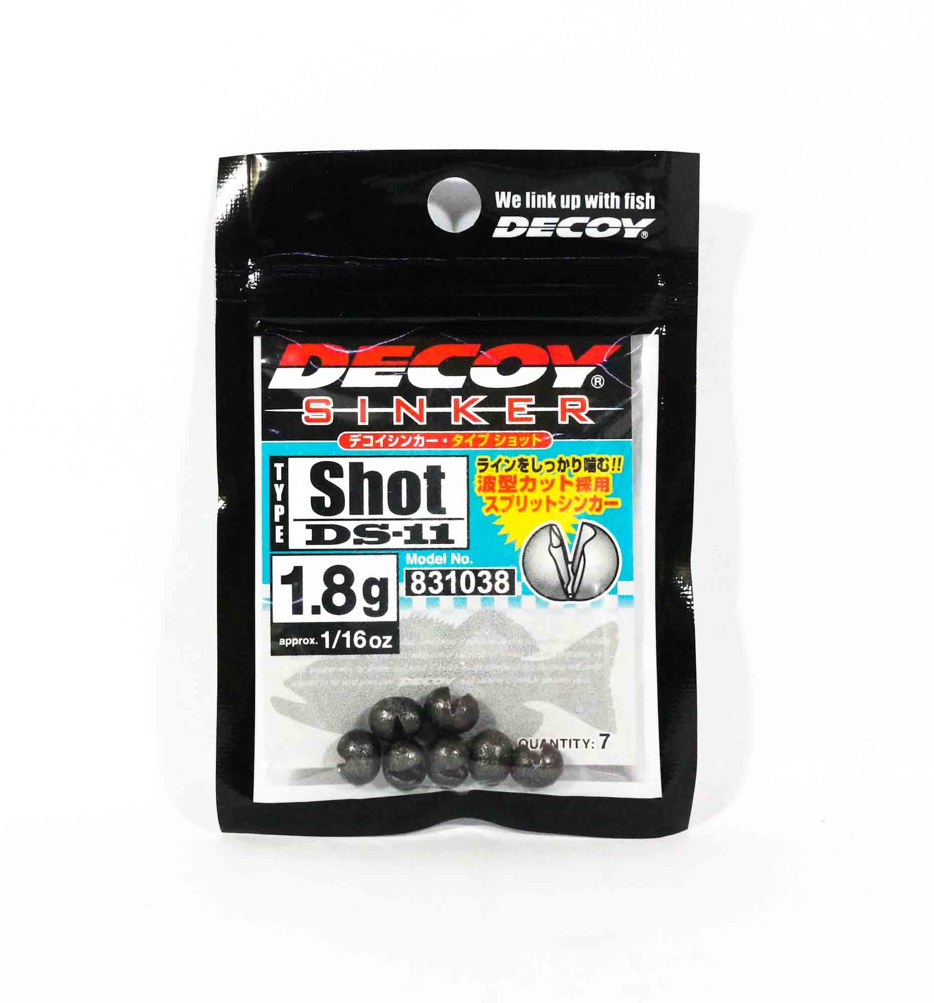 Decoy DS-11 Sinker Shot Size 1.8 grams (1038)