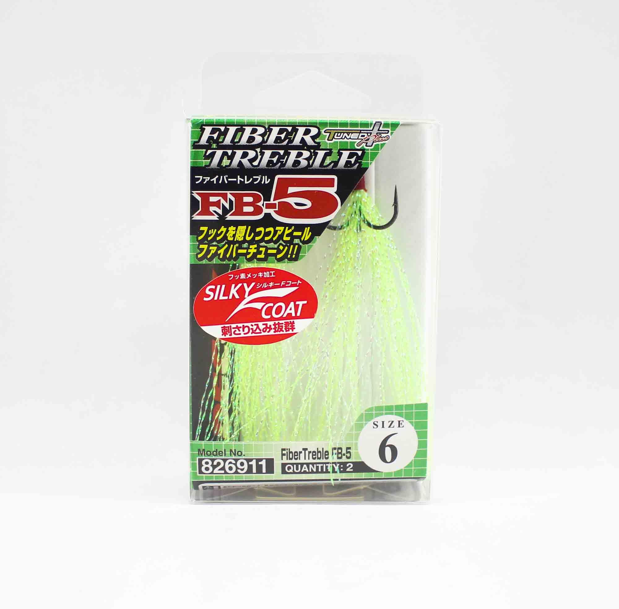 Decoy FB-5 Treble Hook Fiber Size 6 (6911)