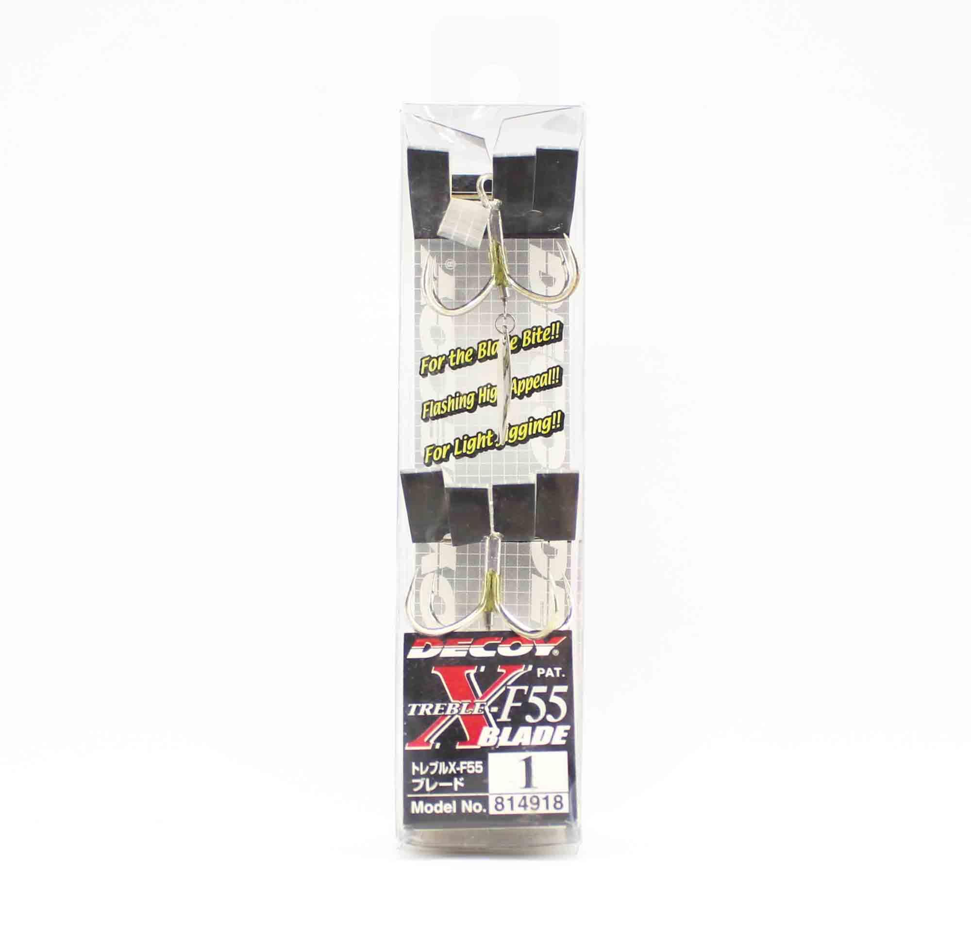 Decoy X-F55 Treble Hook Quattro Wide Angle Hooks Size 1 (4918)