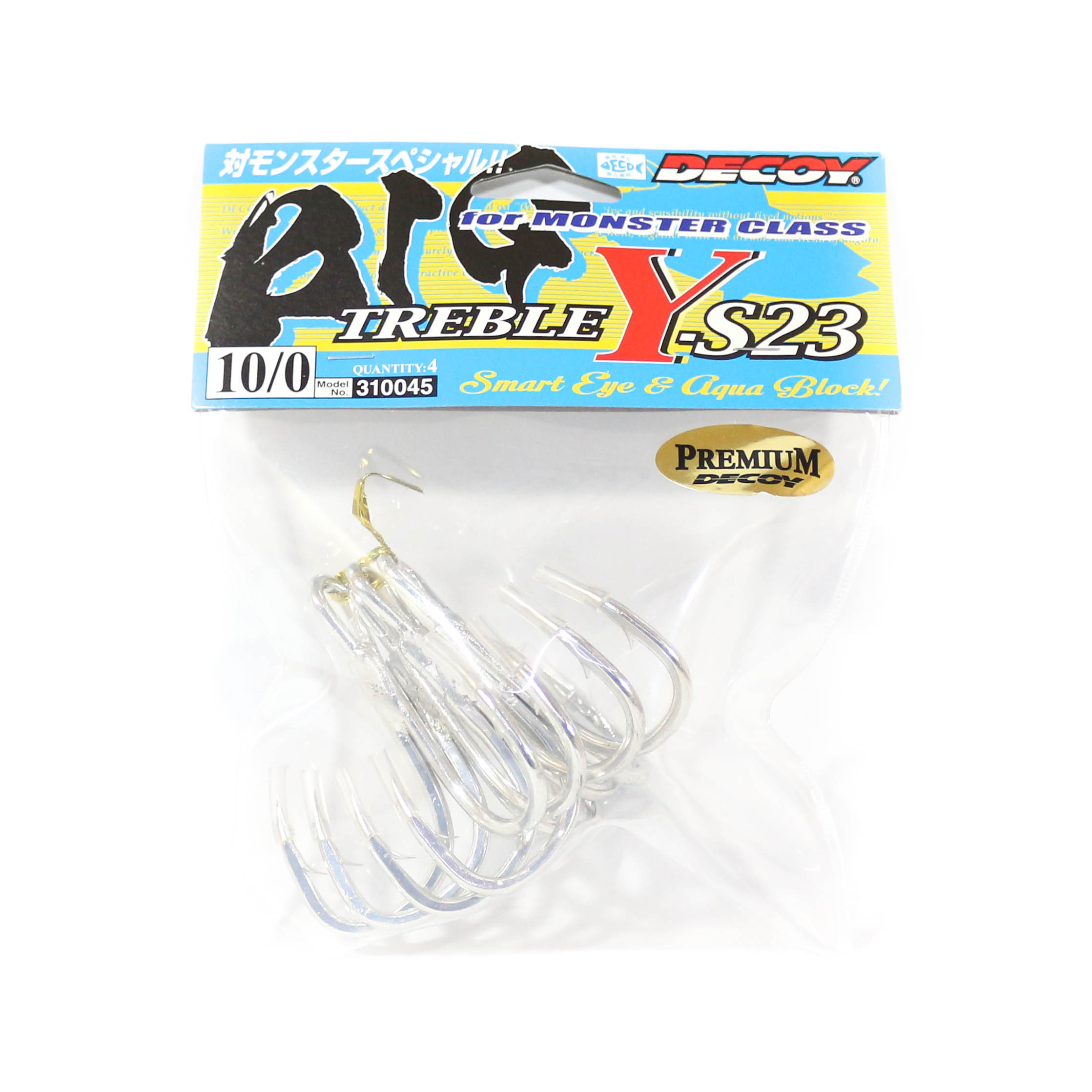 Decoy Y-S23 Treble Hook Heavy Duty Big Size 10/0 (0045)