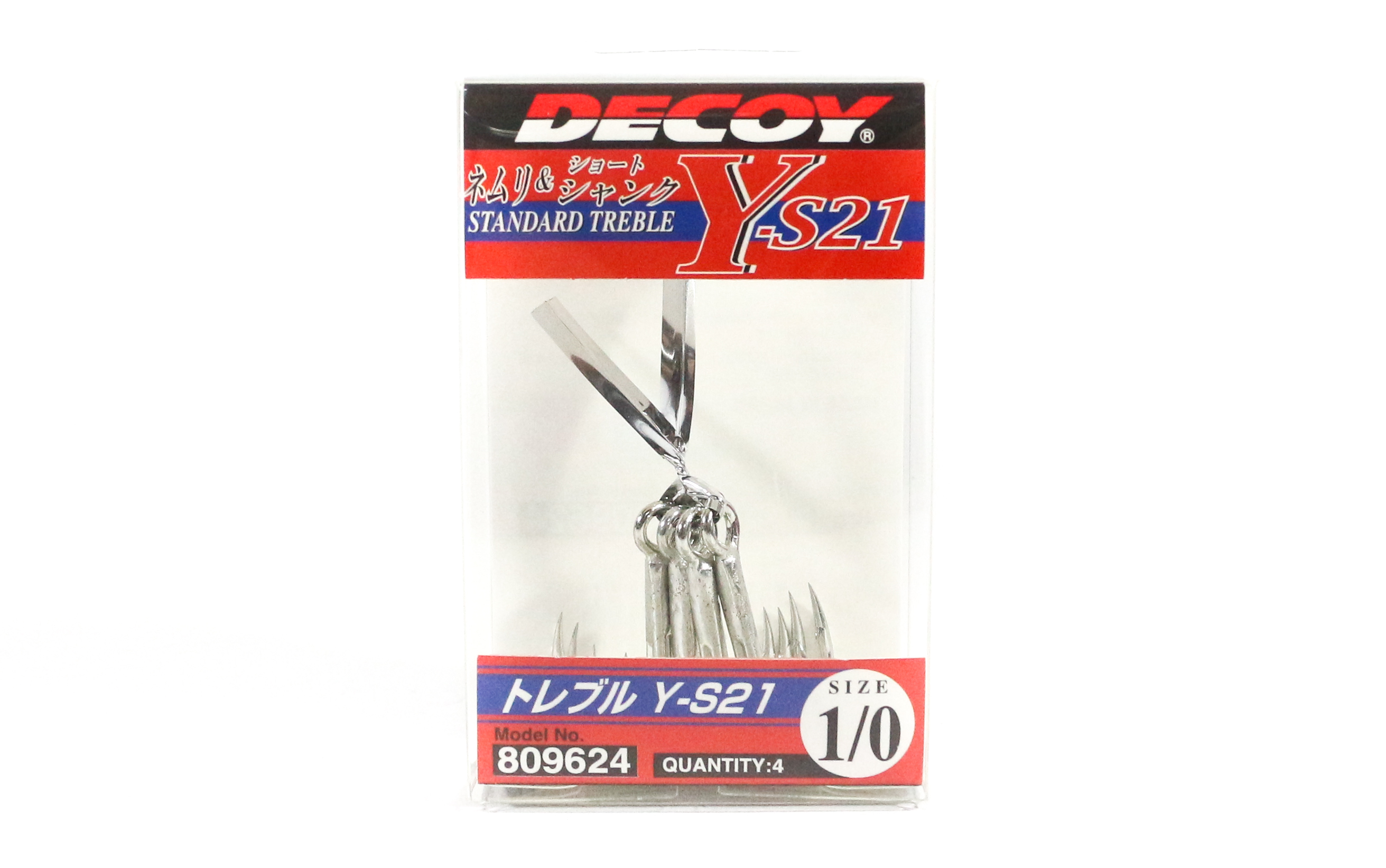 Decoy Y-S21 Treble Hook Standard High Performance Treble Hooks Size 1/0 (9624)