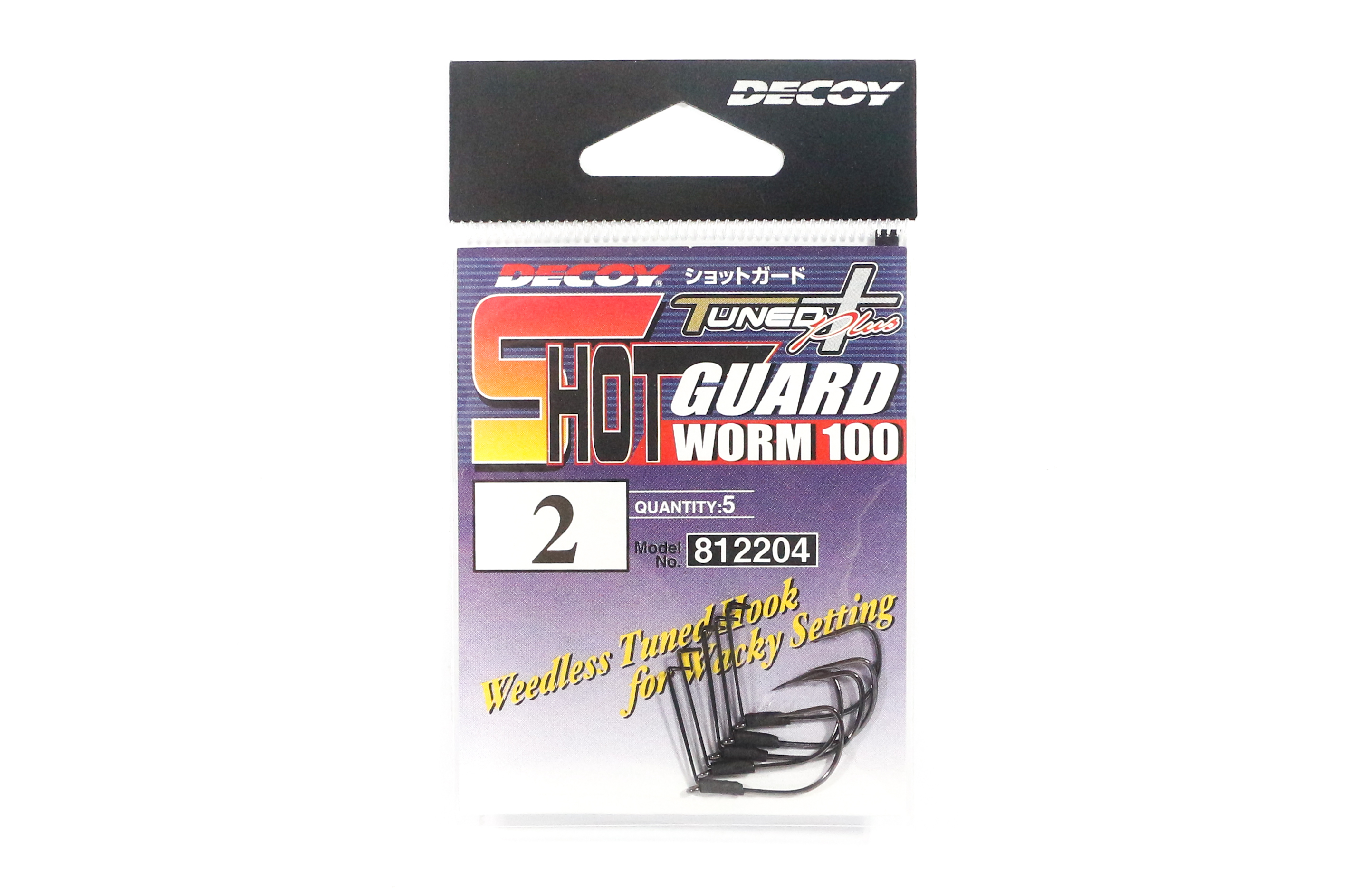 Decoy Worm 100 Shot Guard Weedless Worm Hook for Wacky Style Size 2 (2204)