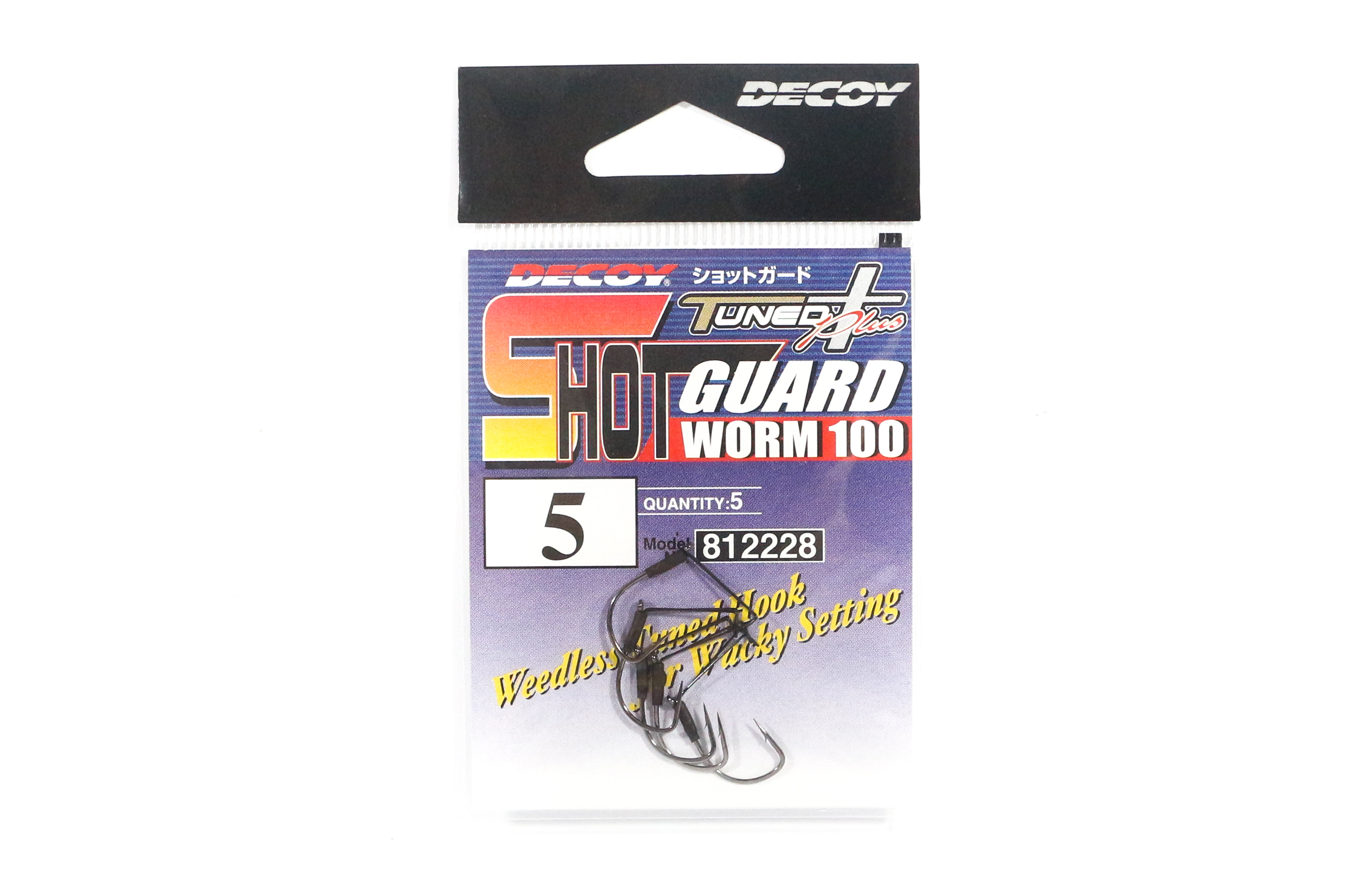 Decoy Worm 100 Shot Guard Weedless Worm Hook for Wacky Style Size 5 (2228)