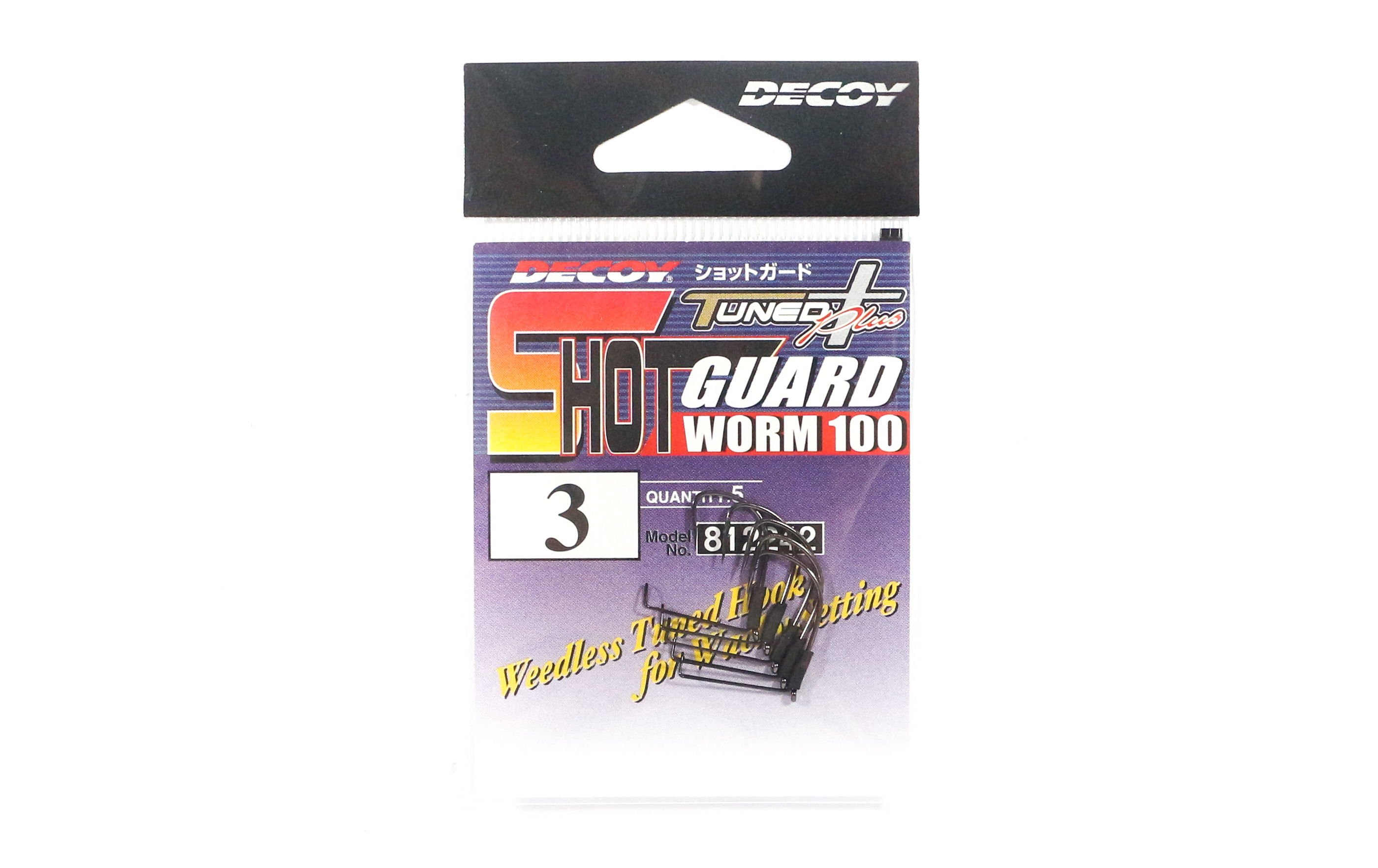 Decoy Worm 100 Shot Guard Weedless Worm Hook for Wacky Style Size 3 (2242)