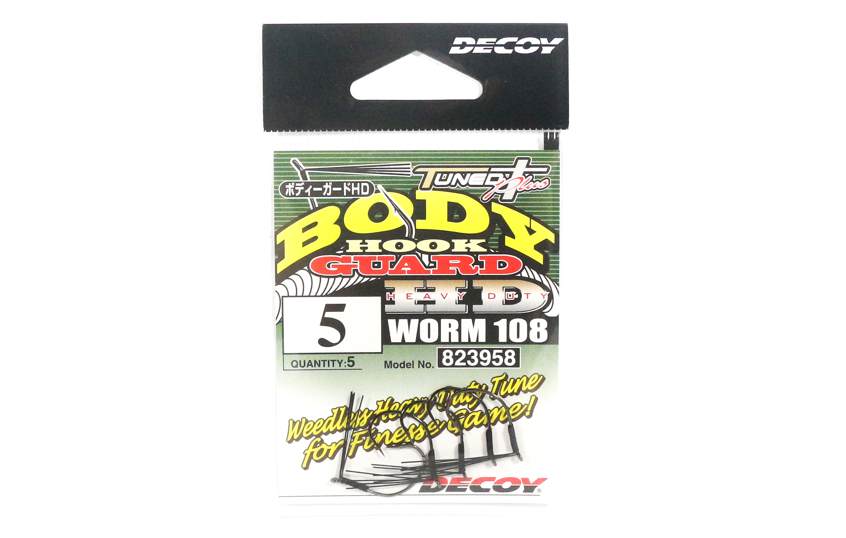 Decoy Worm 108 Body Guard HD Hook for Wacky Rig Size 5 (3958)