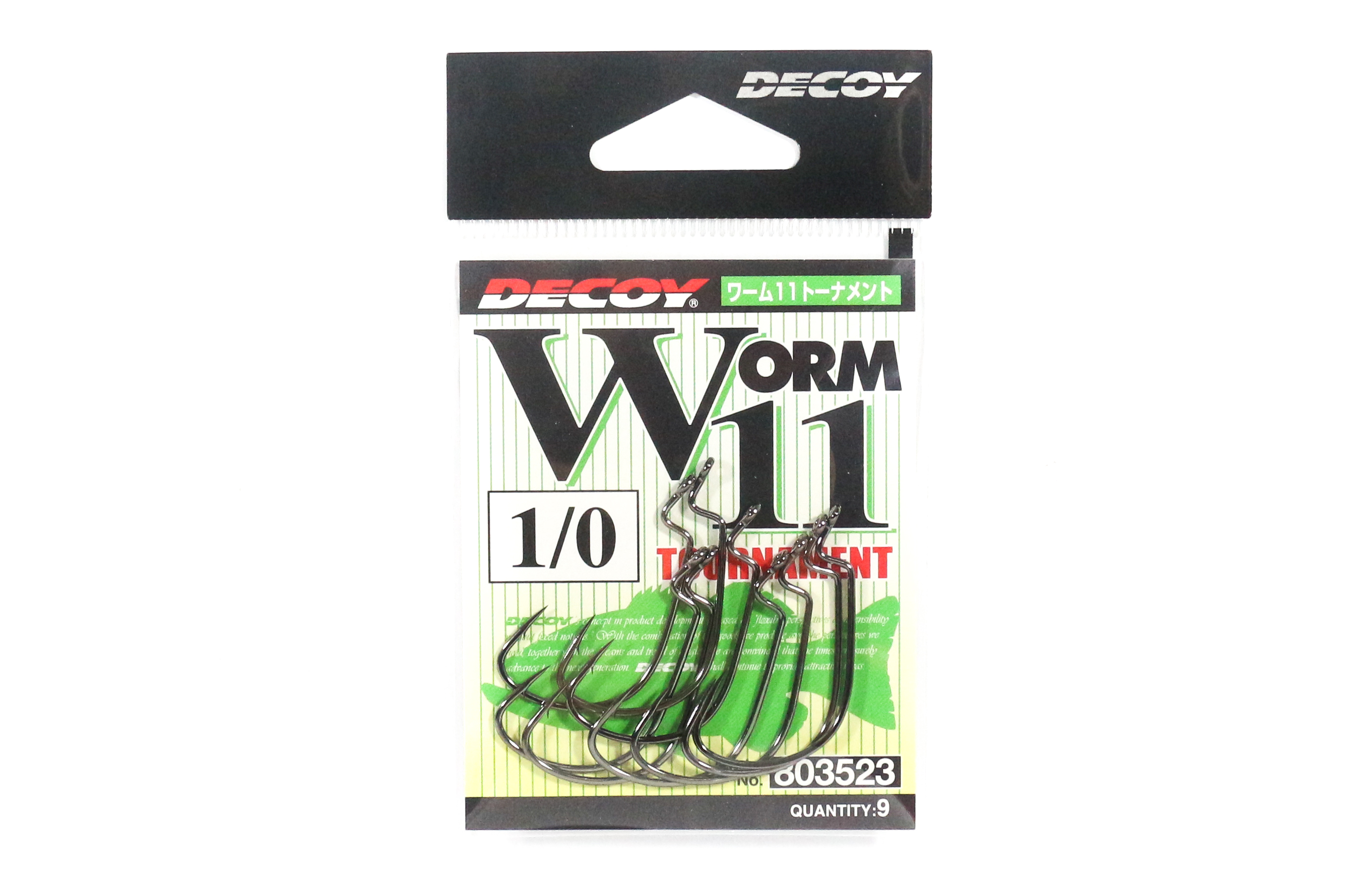 Decoy Worm 11 Tournament Worm Hook Size 1/0 (3523)
