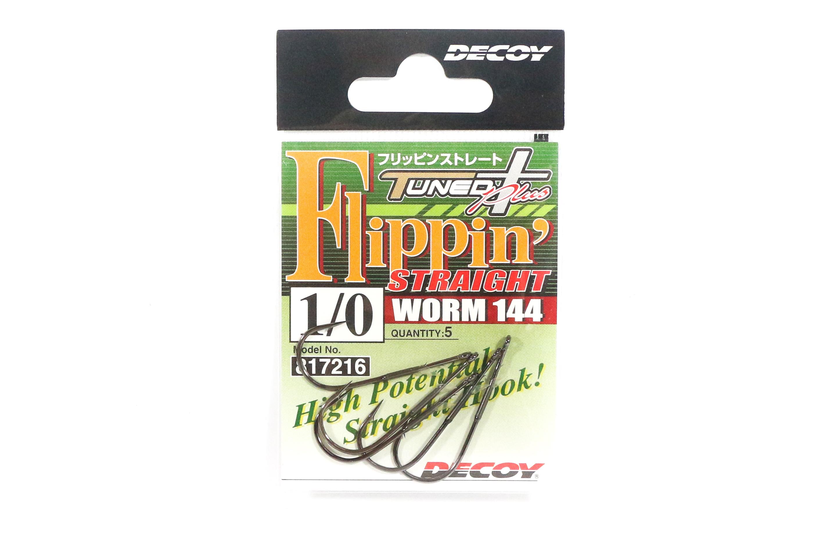 Decoy Worm 144 Flippin' Straight Worm Hooks Size 1/0 (7216)