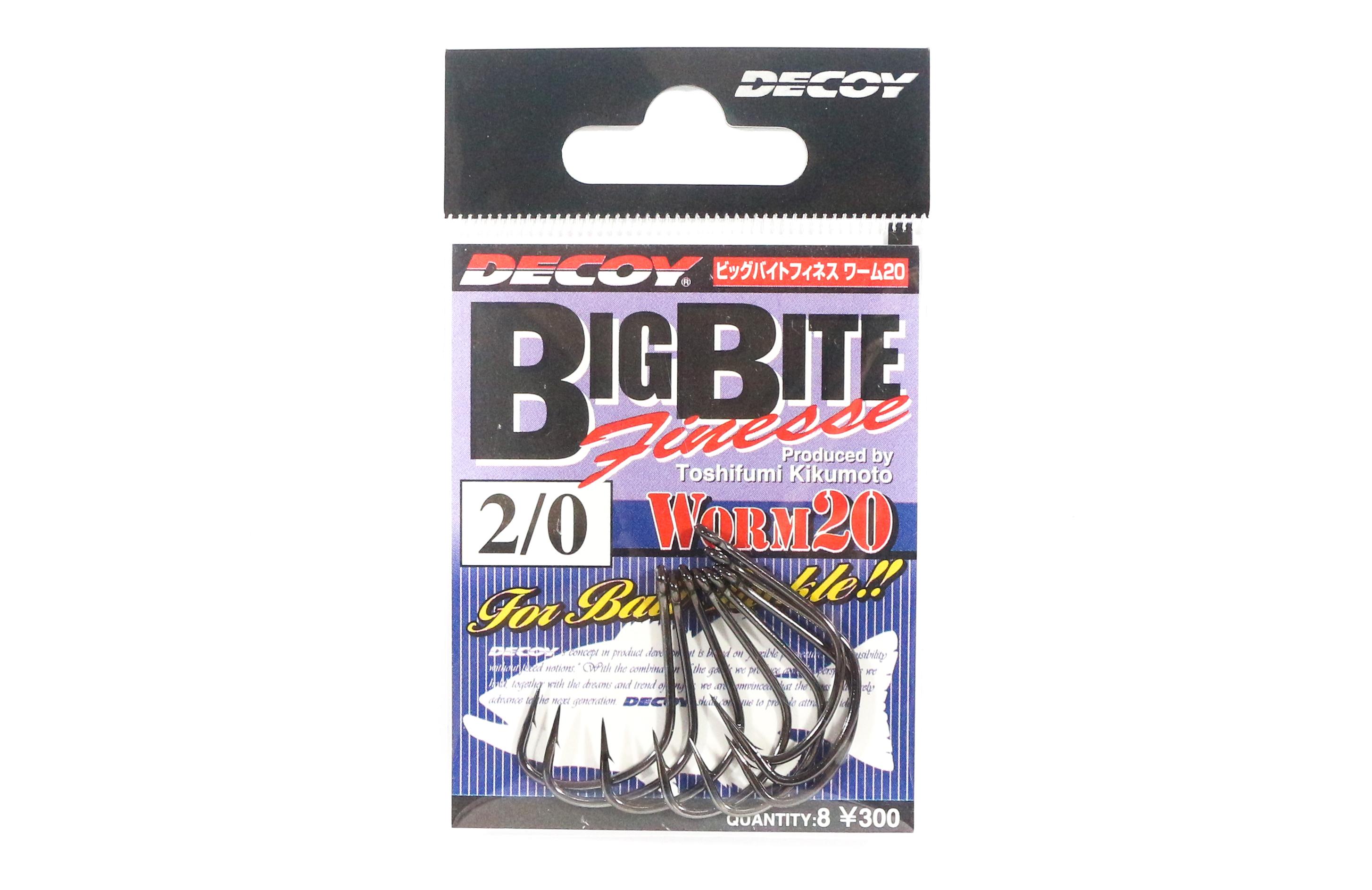 Decoy Worm 20 Big Bite Finesse Wide Gap Hooks Size 2/0 (2938)