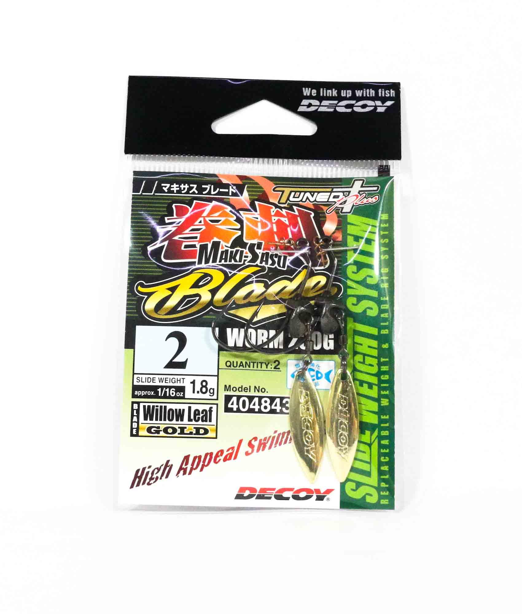Decoy Worm 230G Maki Sasu Blade Gold Size 2 , 1.8 grams (4843)