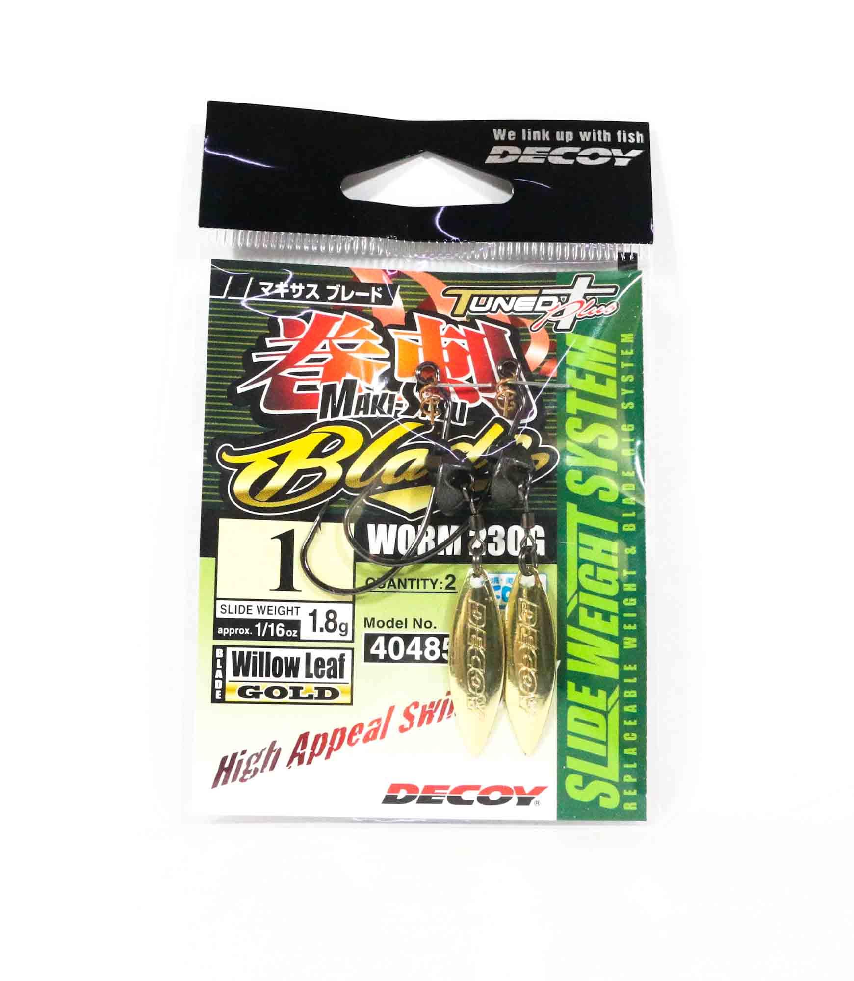 Decoy Worm 230G Maki Sasu Blade Gold Size 1 , 1.8 grams (4850)