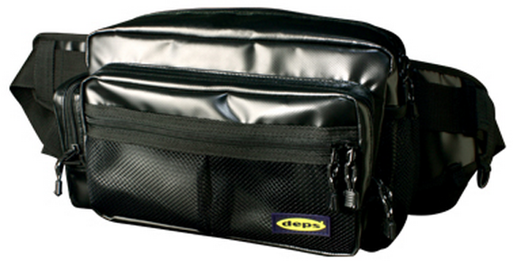 Deps Tarpauline Fishing Hip Waist Bag Black 200 x 300 x 100 mm (4142)